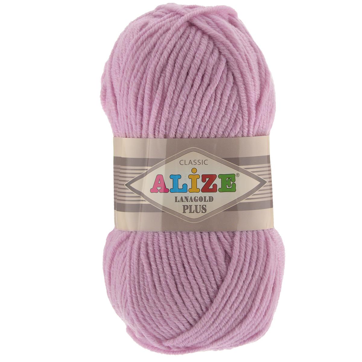 Пряжа для вязания Alize Lana Gold Plus, цвет: розовый (98), 140 м, 100 г, 5 шт695158_98Пряжа Alize Lana Gold Plus - это полюбившаяся всем рукодельницам полушерстяная пряжа, которая прекрасно подойдет для вязания теплых вещей: уютных свитеров и мягких кофт, удобных и стильных платьев и сарафанов, ярких шарфов и шапочек. Сбалансированный состав пряжи Alize Lana Gold Plus позволяет получать мягкие, приятные к телу вещи, хранящие тепло натуральной шерсти и обладающие практичностью акриловой нити. Вязать из полушерстяной теплой пряжи легко и приятно - упругая, плотная нить красиво ложится в любой узор, не слоится и мягко скользит по спицам. Приятная цветовая гамма порадует любителей насыщенных, глубоких оттенков, которые так актуальны зимой. Легкая, мягкая, комфортная. Нить ровная, очень пышная, не линяет и не выгорает, подходит для вязания трикотажных изделий детям и взрослым. Изделия из этой пряжи получаются мягкие, очень легкие, износостойкие. Рекомендуются спицы: 5-7 мм. Комплектация: 5 мотков. Состав: 51% акрил, 49%...