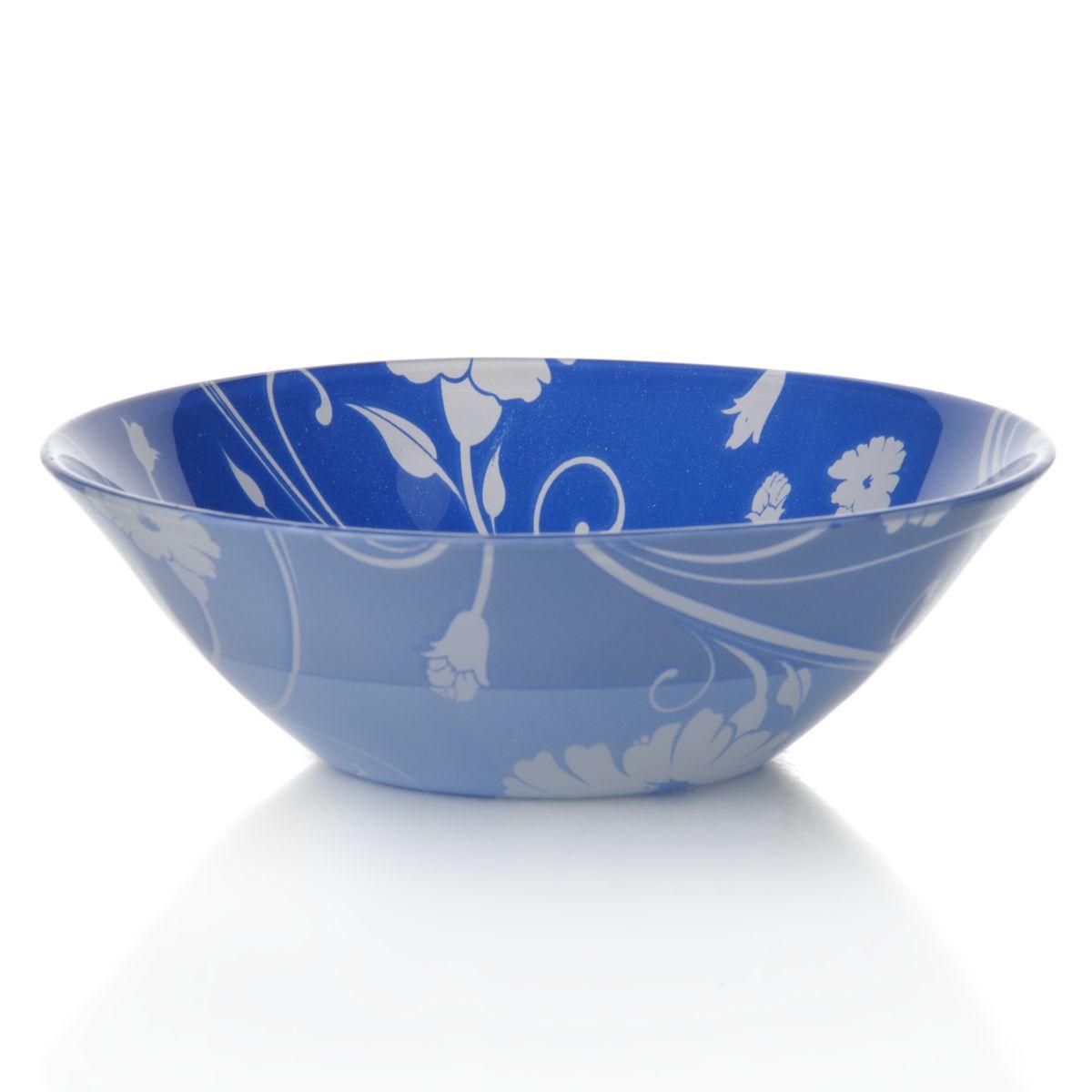 Набор салатников Pasabahce Blue Serenade, цвет: синий, диаметр 14 см, 6 шт10414BD2Набор Pasabahce Blue Serenade состоит из шести круглых салатников, выполненных из закаленного стекла. Изделия украшены изысканным цветочным узором. Набор прекрасно подойдет для сервировки различных блюд. Яркий дизайн украсит стол и порадует вас и ваших гостей. Нельзя использовать в микроволновой печи. Можно использовать в морозильной камере. Диаметр салатника: 14 см. Высота салатника: 5 см.