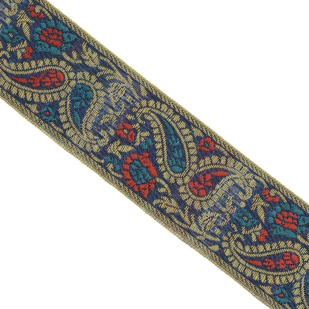 Тесьма декоративная Астра, цвет: синий, ширина 4 см, длина 9 м. 77034277703427_синийДекоративная тесьма Астра выполнена из текстиля и оформлена оригинальным жаккардовым орнаментом. Такая тесьма идеально подойдет для оформления различных творческих работ таких, как скрапбукинг, аппликация, декор коробок и открыток и многое другое. Тесьма наивысшего качества и практична в использовании. Она станет незаменимым элементом в создании рукотворного шедевра. Ширина: 4 см. Длина: 9 м.