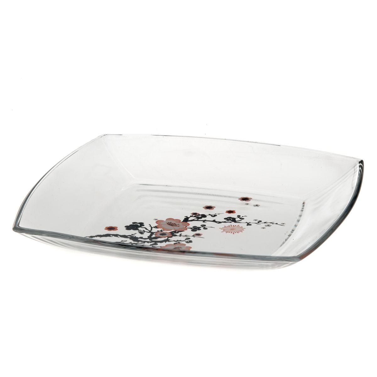 Набор тарелок Pasabahce Workshop Sakura, 26,5 х 26,5 см, 6 шт54087BDНабор Pasabahce Workshop Sakura состоит из шести квадратных тарелок, выполненных из закаленного стекла. Тарелки декорированы изображением ветки сакуры. Они сочетают в себе изысканный дизайн с максимальной функциональностью. Оригинальность оформления тарелок придется по вкусу и ценителям классики, и тем, кто предпочитает утонченность и изящность. Набор тарелок Pasabahce Workshop Sakura послужит отличным подарком к любому празднику. Можно использовать в морозильной камере и микроволновой печи. Можно мыть в посудомоечной машине. Размер тарелки: 26,5 см х 26,5 см. Высота стенок: 2,5 см.