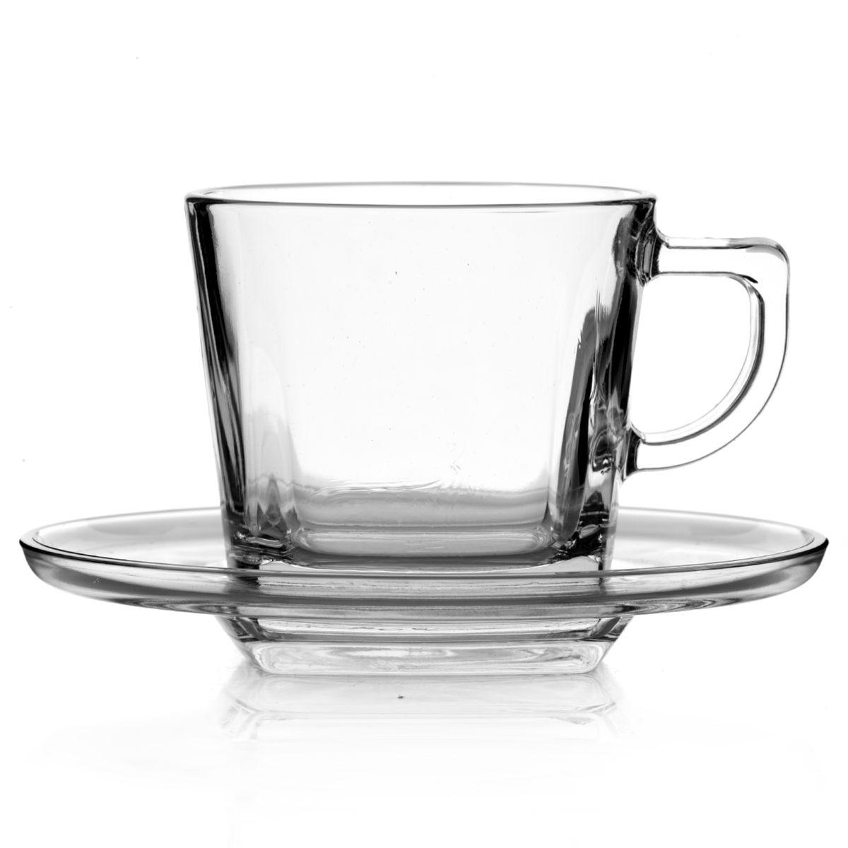 Набор чайный Pasabahce Baltic, цвет: прозрачный, 12 предметов95307BЧайный набор Pasabahce Baltic состоит из шести чашек и шести блюдец. Предметы набора изготовлены из прочного натрий-кальций-силикатного стекла. Необычная форма изделий делает этот набор оригинальным, не похожим на множество других. Изящный чайный набор великолепно украсит стол к чаепитию и порадует вас и ваших гостей ярким дизайном и качеством исполнения. Диаметр чашки (по верхнему краю): 7,5 см. Высота чашки: 7 см. Объем чашки: 215 мл. Количество чашек: 6 шт. Размер блюдца: 13 см х 13 см х 2 см. Количество блюдец: 6 шт.