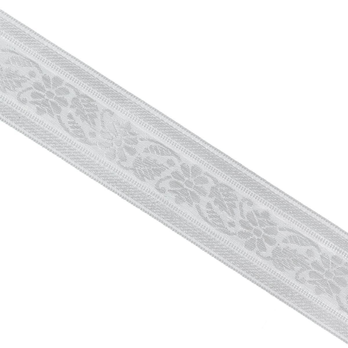 Тесьма декоративная Астра, цвет: серебро, ширина 4 см, длина 16,4 м. 77032137703213_сереброДекоративная тесьма Астра выполнена из текстиля и оформлена оригинальным жаккардовым орнаментом. Такая тесьма идеально подойдет для оформления различных творческих работ таких, как скрапбукинг, аппликация, декор коробок и открыток и многое другое. Тесьма наивысшего качества и практична в использовании. Она станет незаменимым элементом в создании рукотворного шедевра. Ширина: 4 см. Длина: 16,4 м.