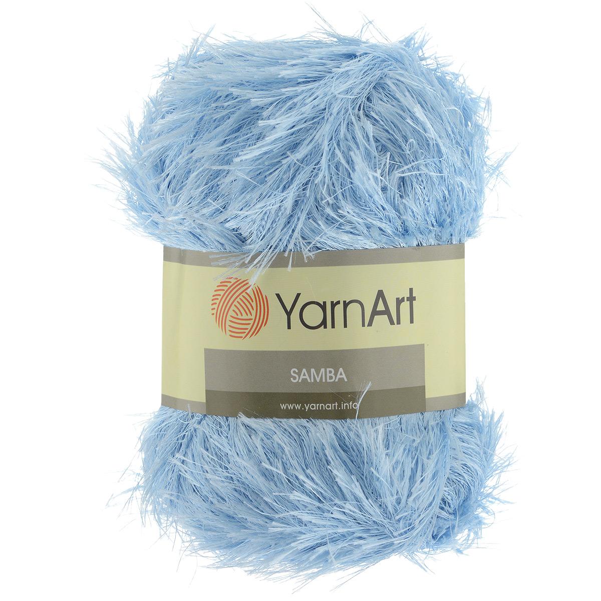 Пряжа для вязания YarnArt Samba, цвет: голубой (2029), 150 м, 100 г, 5 шт372009_2029Пряжа для вязания YarnArt Samba, изготовленная из 100% полиэстера, представляет собой яркий пример отделочной нити, с помощью которой можно придать оригинальность и красоту каждому изделию. Из такой пряжи великолепно получаются коврики и пледы, чехлы для мебели, шарфы, палантины, болеро, жилеты и многие другие изделия. Подходит для вязания на спицах и крючках 5,5 мм. Состав: 100% полиэстер. Комплектация: 5 шт.