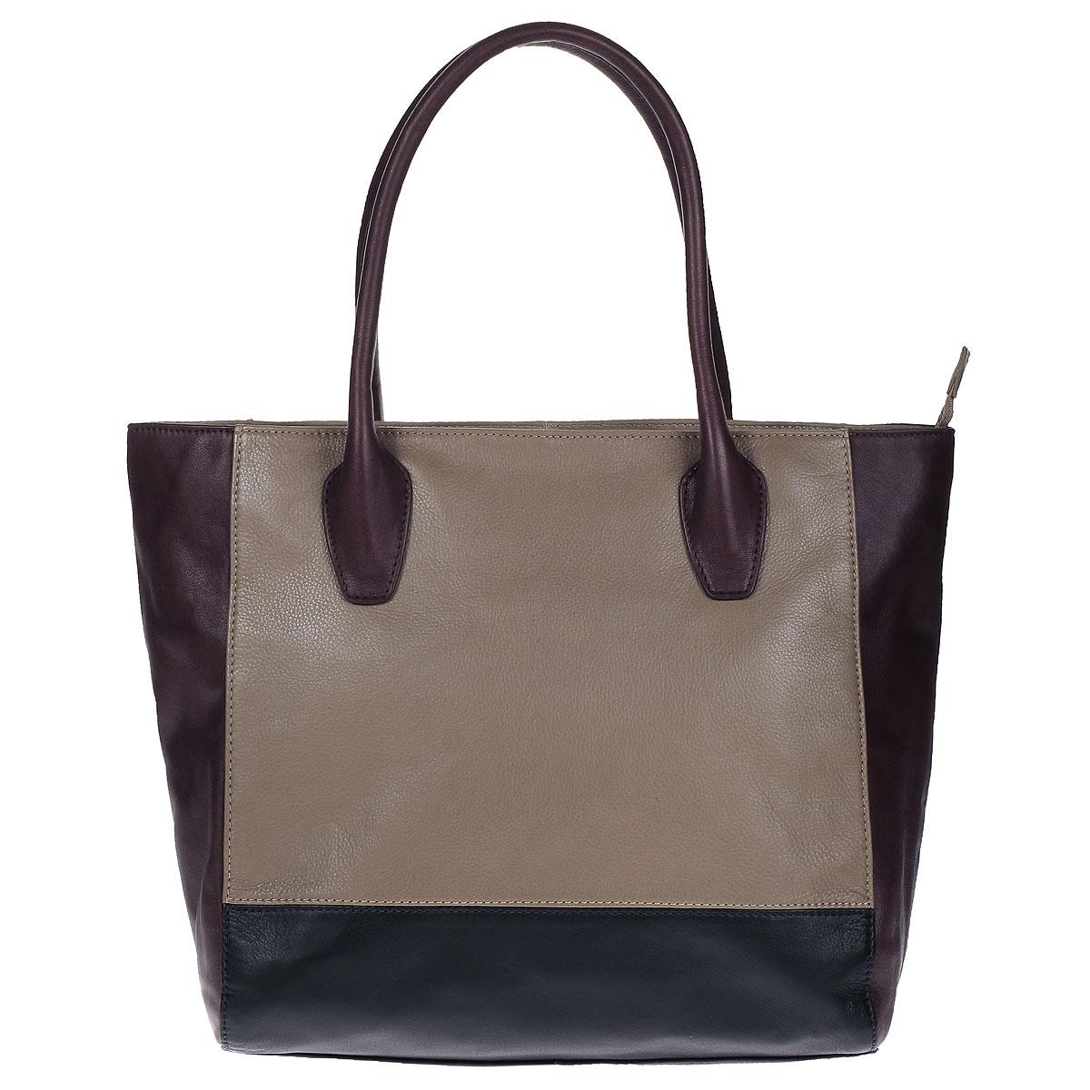 Сумка женская Palio, цвет: бордовый, черный, бежевый. 12889AS1-W212889AS1-W2Изысканная женская сумка Palio выполнена из натуральной кожи и декорирована вставками контрастного цвета. Изделие закрывается на застежку-молнию. Внутри - одно отделение, в котором имеется плоский карман на застежке-молнии, два кармашка для телефона и мелочей. Дно защищено от повреждений металлическими ножками. В комплекте чехол для хранения и съемный плечевой ремень регулируемой длины. Роскошная сумка внесет элегантные нотки в ваш образ и подчеркнет ваше отменное чувство стиля.