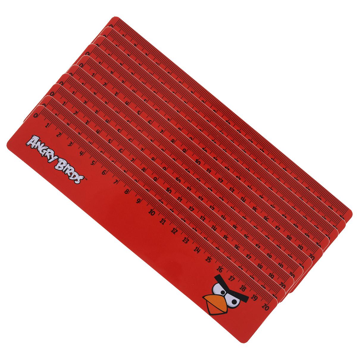 Линейка Centrum Angry Birds, 20 см, 10 шт84496ОДвухсторонняя линейка Centrum Angry Birds обязательно придется по вкусу любому поклоннику знаменитой игры Angry Birds. Она выполнена из прочного пластика красного цвета и оформлена изображением красной сердитой птички. Линейка имеет сантиметровую шкалу до 20 см. Цифры нанесены крупным шрифтом и не вызывают затруднений при чтении. В комплект входят 10 линеек. Линейка - это незаменимый атрибут, необходимый каждому школьнику или студенту, упрощающий измерение и обеспечивающий ровность проводимых линий. А с линейкой Angry birds учиться будет интересно и весело!