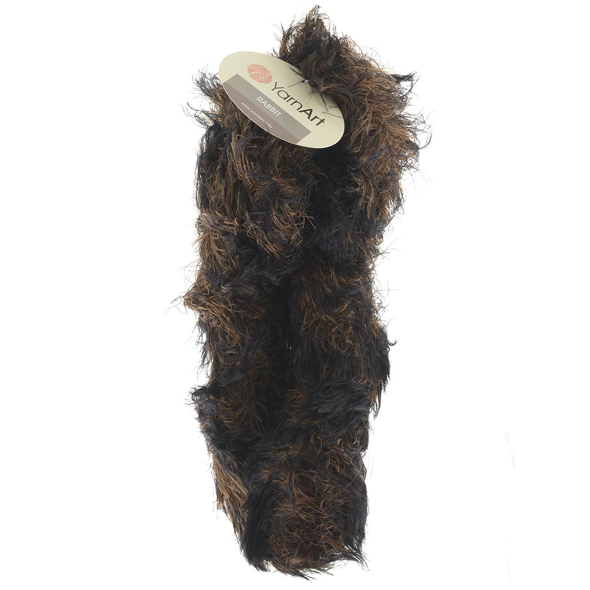 Пряжа для вязания YarnArt Rabbit, цвет: черный, коричневый (556), 90 м, 100 г, 4 шт693354_556Пряжа Rabbit - новинка, имитирующая мех кролика фантазийной окраски. Нить тонкая с длинным ворсом. Подходит в качестве отделки одежды, а также в качестве основной пряжи. Вязать лучше всего лицевой гладью, тогда изделие получится мягким и пушистым, как настоящий мех. Состав: 100% полиамид. Рекомендованные спицы и крючок № 6-6,5.
