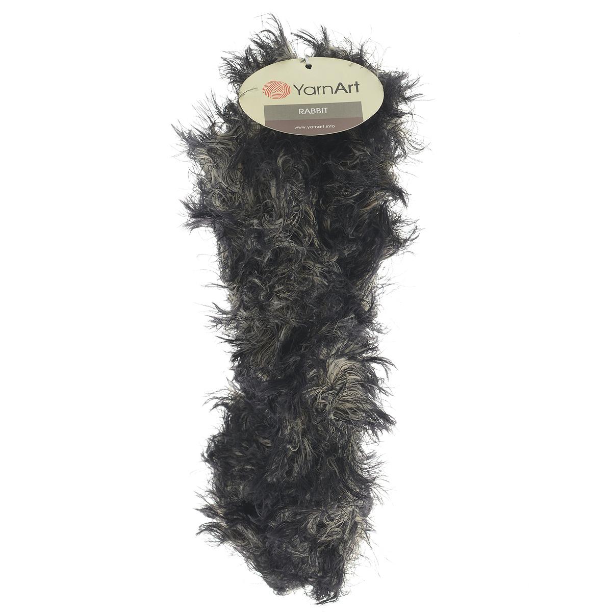 Пряжа для вязания YarnArt Rabbit, цвет: черный, бежевый (558), 90 м, 100 г, 4 шт693354_558Пряжа Rabbit - новинка, имитирующая мех кролика фантазийной окраски. Нить тонкая с длинным ворсом. Подходит в качестве отделки одежды, а также в качестве основной пряжи. Вязать лучше всего лицевой гладью, тогда изделие получится мягким и пушистым, как настоящий мех. Состав: 100% полиамид. Рекомендованные спицы и крючок № 6-6,5.