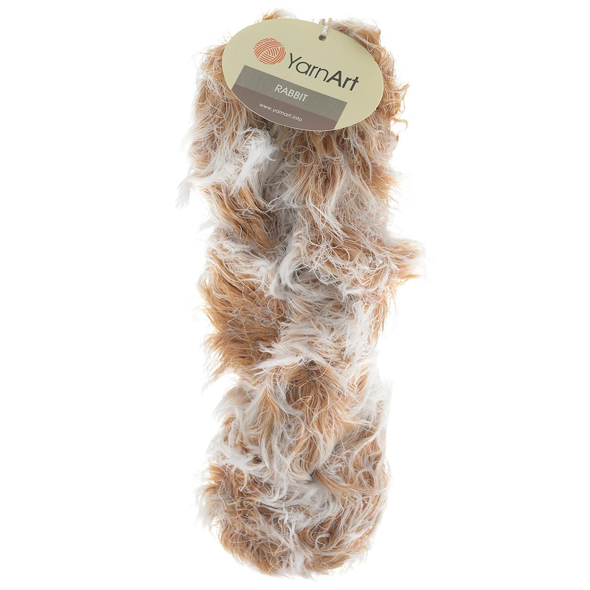 Пряжа для вязания YarnArt Rabbit, цвет: белый, светло-коричневый (554), 90 м, 100 г, 4 шт693354_554Пряжа Rabbit - новинка, имитирующая мех кролика фантазийной окраски. Нить тонкая с длинным ворсом. Подходит в качестве отделки одежды, а также в качестве основной пряжи. Вязать лучше всего лицевой гладью, тогда изделие получится мягким и пушистым, как настоящий мех. Состав: 100% полиамид. Рекомендованные спицы и крючок № 6-6,5.
