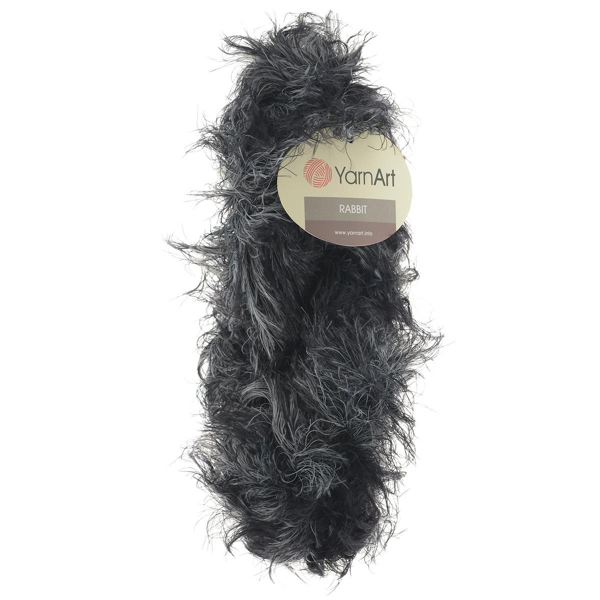 Пряжа для вязания YarnArt Rabbit, цвет: черный, серый (561), 90 м, 100 г, 4 шт693354_561Пряжа Rabbit - новинка, имитирующая мех кролика фантазийной окраски. Нить тонкая с длинным ворсом. Подходит в качестве отделки одежды, а также в качестве основной пряжи. Вязать лучше всего лицевой гладью, тогда изделие получится мягким и пушистым, как настоящий мех. Состав: 100% полиамид. Рекомендованные спицы и крючок № 6-6,5.