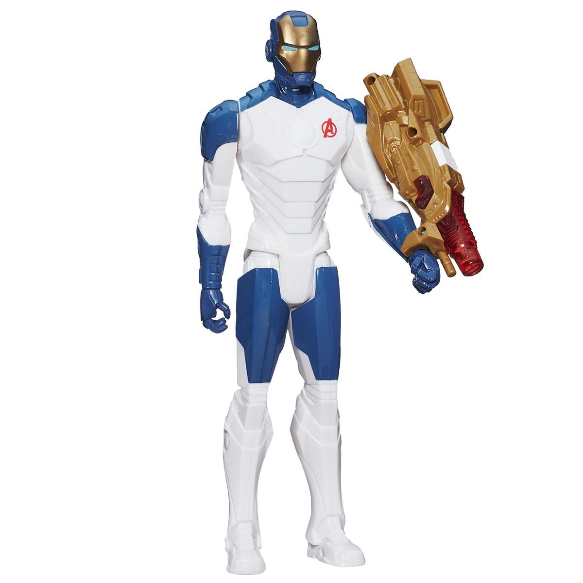 Фигурка Avengers Титаны: Iron Man, с аксессуаром, 29 смB6177121_B1497Фигурка Avengers Титаны: Iron Man порадует любого маленького поклонника знаменитой серии Мстители (Avengers). Фигурка изготовлена из высококачественного прочного пластика и выполнена в виде супергероя Железного Человека. Фигурка имеет 5 точек артикуляции - голова, руки, кисти и ноги подвижны. В комплект также входят аксессуар для героя - мощное футуристическое оружие, которое закрепляется на руке героя. При нажатии кнопки на корпусе оружия, его дуло начнет светиться. Фигурка понравится как детям, так и взрослым коллекционерам, она станет отличным сувениром или займет достойное место в коллекции любого поклонника комиксов о непобедимых Мстителях. Рекомендуется докупить 2 батарейки типа LR44 (товар комплектуется демонстрационными).