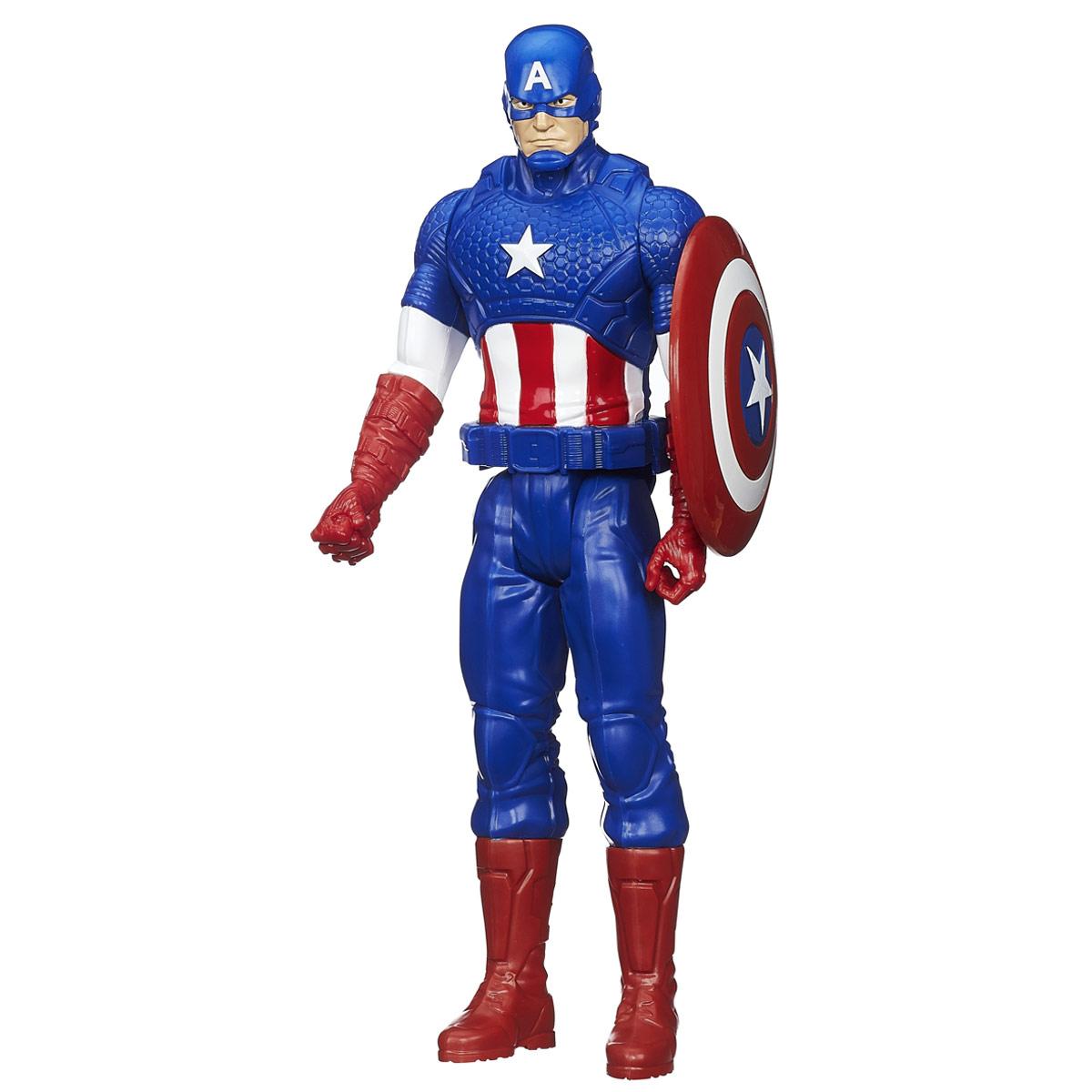 Фигурка Avengers Титаны: Капитан Америка, 29 смB0434EU4_B1669Фигурка Avengers Титаны: Капитан Америка порадует любого маленького поклонника знаменитой серии Мстители (Avengers). Фигурка изготовлена из высококачественного прочного пластика и выполнена в виде супергероя Капитана Америки. Фигурка имеет 5 точек артикуляции - голова, руки, кисти и ноги подвижны. В комплект также входит оружие героя - его верный щит. Капитан Америка - альтер эго Стива Роджерса, болезненного юноши, который был усилен экспериментальной сывороткой до максимума физической формы, доступной человеку, дабы помочь военным операциям США. Капитан Америка одет в костюм, раскрашенный на мотив американского флага, и вооружён неразрушимым щитом, который можно использовать в качестве оружия. Фигурка понравится как детям, так и взрослым коллекционерам, она станет отличным сувениром или займет достойное место в коллекции любого поклонника комиксов о непобедимых Мстителях.