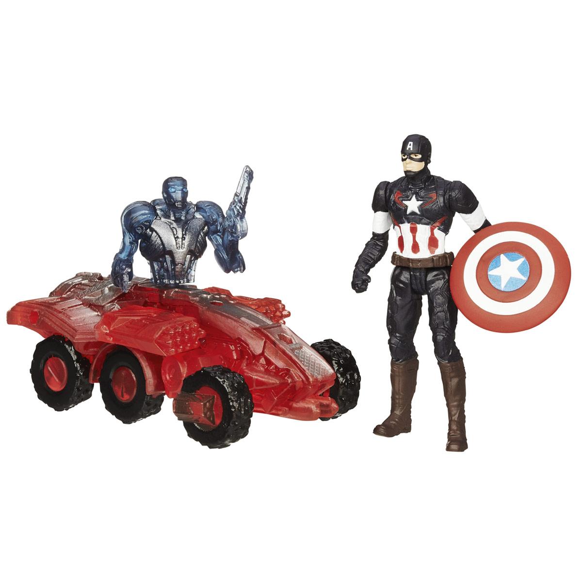 Мини-фигурка Avengers Captain America, с аксессуарамиB5768EU4_B1483Мини-фигурка Avengers Captain America непременно привлечет внимание вашего ребенка и не позволит ему скучать. Фигурка выполнена в виде супергероя Капитана Америки из команды Мстителей. В комплект также входят элементы для сборки фигурки Sub-Ultron 002. Фигурка выполнена из прочного безопасного пластика. Она в точности повторяет внешний вид героя фильма. Голова, руки и ноги фигурки подвижны, что позволяет придавать ей различные позы и открывает малышу неограниченный простор для игр. Соберите все мини-фигурки героев Marvel от Hasbro, и соедините фигурки Sub-Ultron в большого боевого робота! Небольшие размеры фигурки позволят ребенку брать ее с собой на прогулку и в гости, так что малышу не придется расставаться со своей игрушкой. Он проведет множество счастливых мгновений, играя с ней и придумывая различные истории.