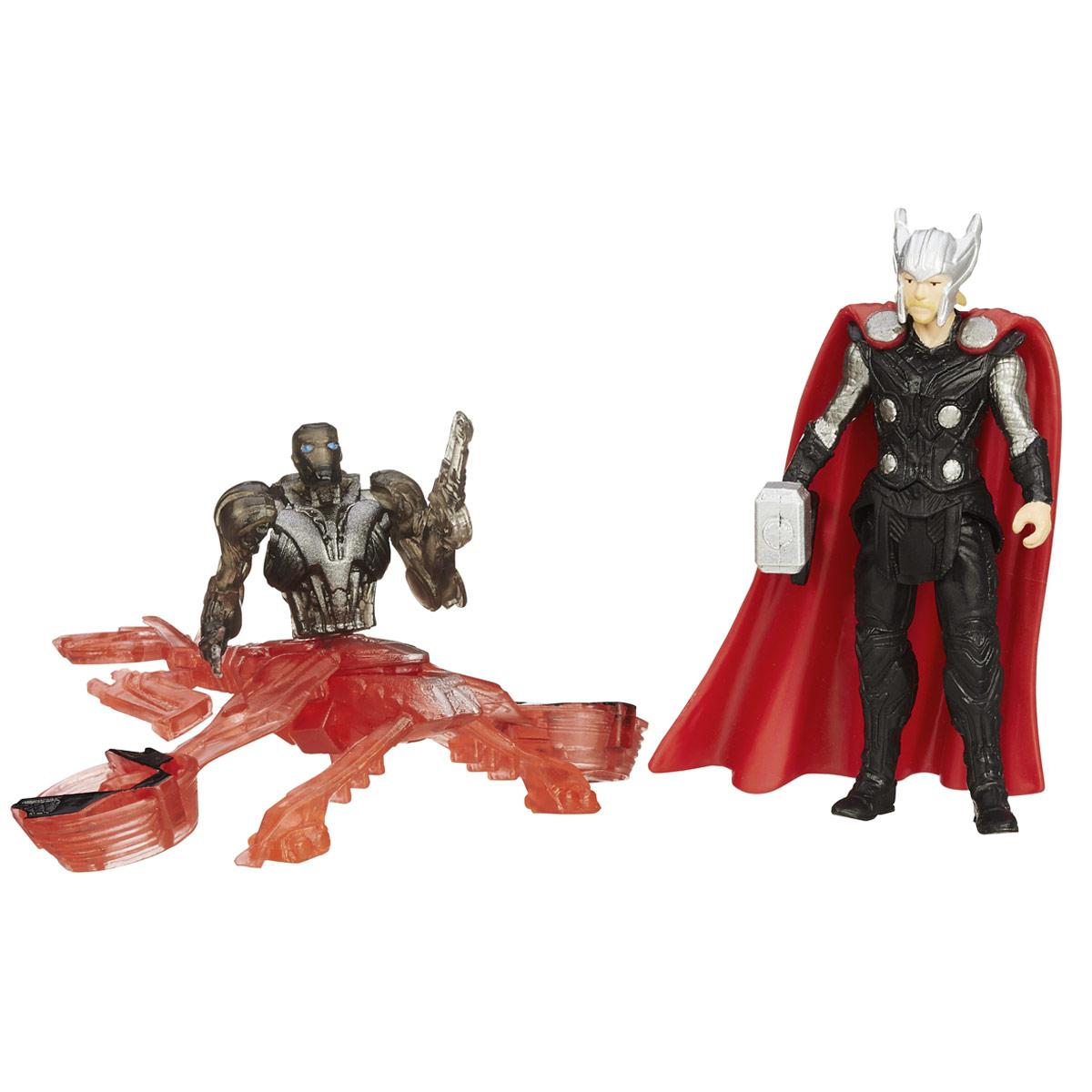 Мини-фигурка Avengers Thor, с аксессуарамиB5768EU4_B1486Мини-фигурка Avengers Thor непременно привлечет внимание вашего ребенка и не позволит ему скучать. Фигурка выполнена в виде супергероя Тора из команды Мстителей. В комплект также входят элементы для сборки фигурки Sub-Ultron 005. Фигурка выполнена из прочного безопасного пластика. Она в точности повторяет внешний вид героя фильма. Голова, руки и ноги фигурки подвижны, что позволяет придавать ей различные позы и открывает малышу неограниченный простор для игр. Соберите все мини-фигурки героев Marvel от Hasbro, и соедините фигурки Sub-Ultron в большого боевого робота! Небольшие размеры фигурки позволят ребенку брать ее с собой на прогулку и в гости, так что малышу не придется расставаться со своей игрушкой. Он проведет множество счастливых мгновений, играя с ней и придумывая различные истории.