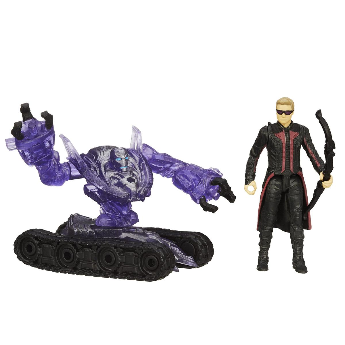 Мини-фигурка Avengers Marvels Hawkeye, с аксессуарамиB5768EU4_B1485Мини-фигурка Avengers Marvels Hawkeye непременно привлечет внимание вашего ребенка и не позволит ему скучать. Фигурка выполнена в виде супергероя Соколиного Глаза из команды Мстителей. В комплект также входят элементы для сборки фигурки Sub-Ultron 004. Фигурка выполнена из прочного безопасного пластика. Она в точности повторяет внешний вид героя фильма. Голова, руки и ноги фигурки подвижны, что позволяет придавать ей различные позы и открывает малышу неограниченный простор для игр. Соберите все мини-фигурки героев Marvel от Hasbro, и соедините фигурки Sub-Ultron в большого боевого робота! Небольшие размеры фигурки позволят ребенку брать ее с собой на прогулку и в гости, так что малышу не придется расставаться со своей игрушкой. Он проведет множество счастливых мгновений, играя с ней и придумывая различные истории.