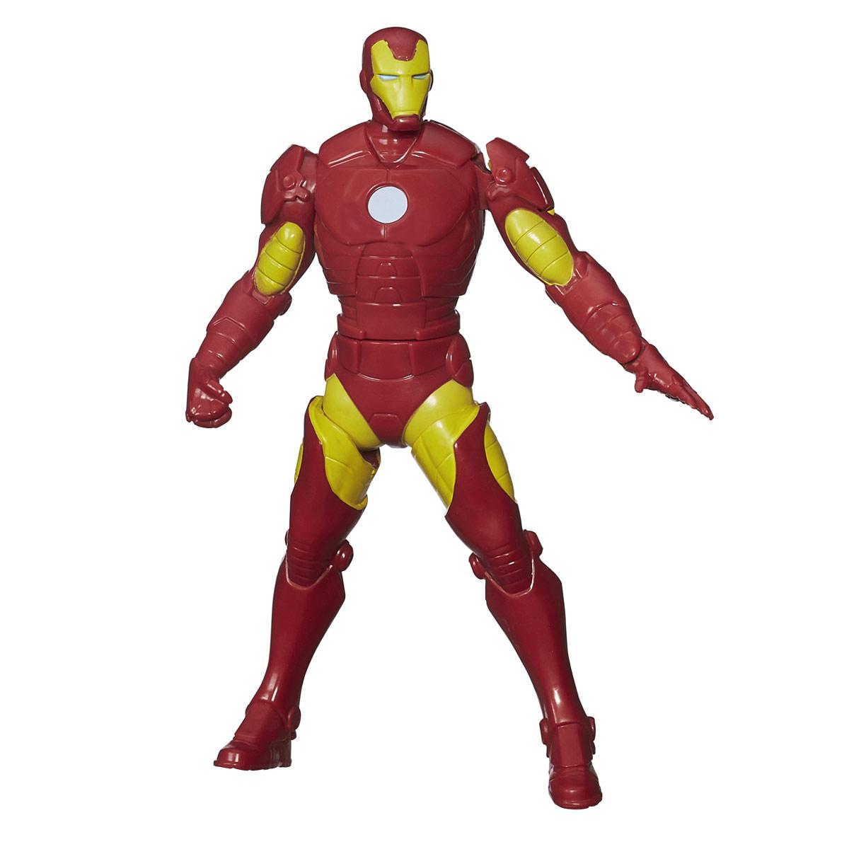 Боевая фигурка Avengers Iron Man, 16 смB1202_B1812Боевая фигурка Avengers Iron Man порадует любого маленького поклонника знаменитой серии Мстители (Avengers). Фигурка изготовлена из высококачественного прочного пластика и выполнена в виде супергероя Железного человека. Сведите ноги фигурки вместе, и Железный Человек примет свою знаменитую позу, повернувшись и вытянув вперед левую руку. Фигурка отличается высоким качеством исполнения и детализации. Железный Человек - гениальный изобретатель Энтони Старк, создавший высокотехнологичный костюм-броню, чтобы сбежать из плена. Позднее, Старк улучшает свою броню вооружением и устройствами, созданными на базе ресурсов его компании, и использует ее дабы защищать мир в облике Железного Человека. Фигурка понравится как детям, так и взрослым коллекционерам, она станет отличным сувениром или займет достойное место в коллекции любого поклонника комиксов о непобедимых Мстителях.