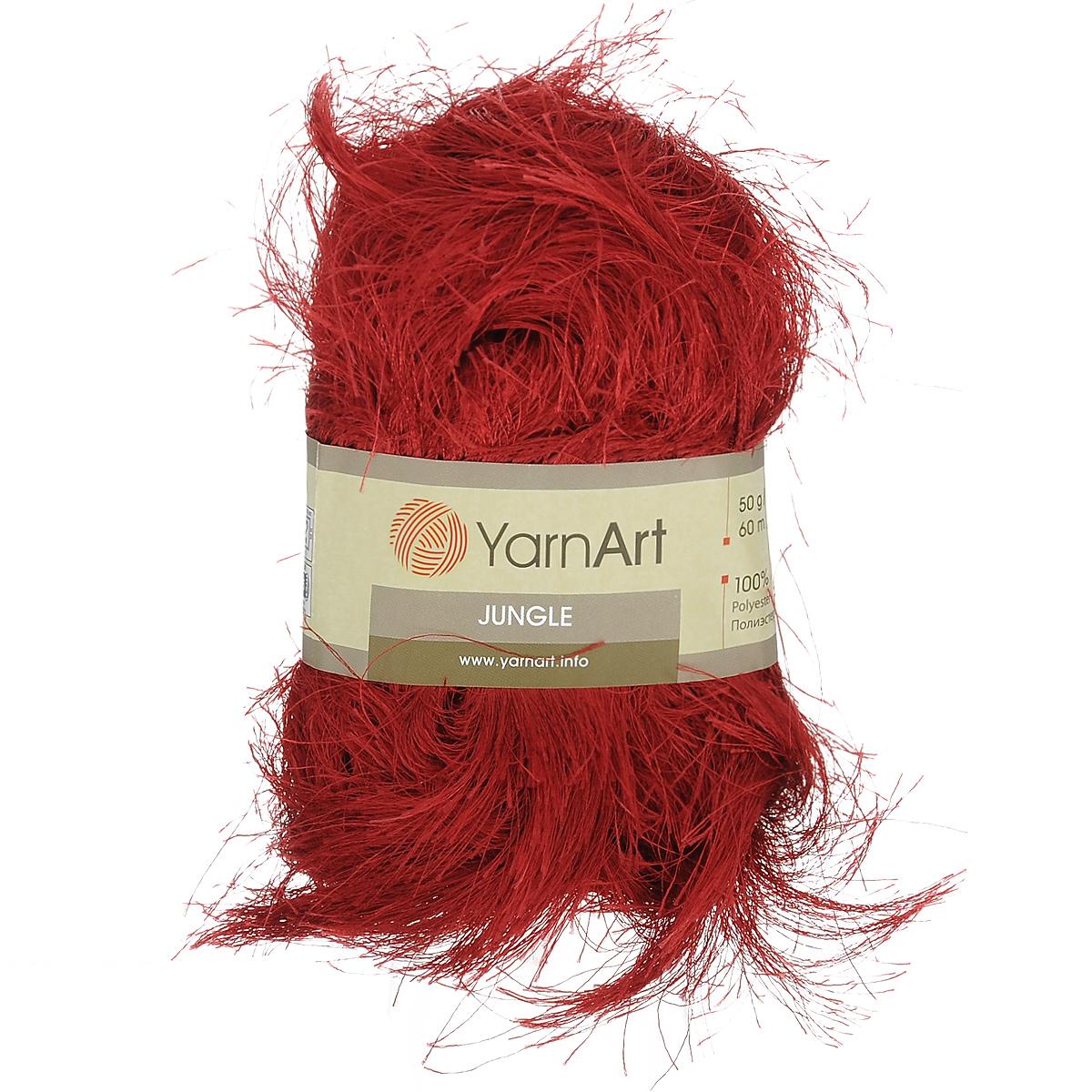 Пряжа для вязания YarnArt Jungle, цвет: бордовый (08), 60 м, 50 г, 10 шт372055_08Пряжа для вязания YarnArt Jungle изготовлена из полиэстера. Пряжа-травка предназначена для ручного вязания и идеально подходит для отделки. Готовый ворс получается равным 4 см. Рекомендованные спицы и крючок для вязания 6 мм. Комплектация: 10 мотков. Состав: 100% полиэстер.
