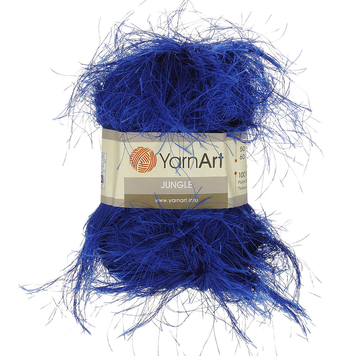 Пряжа для вязания YarnArt Jungle, цвет: синий (24), 60 м, 50 г, 10 шт372055_24Пряжа для вязания YarnArt Jungle изготовлена из полиэстера. Пряжа-травка предназначена для ручного вязания и идеально подходит для отделки. Готовый ворс получается равным 4 см. Рекомендованные спицы и крючок для вязания 6 мм. Комплектация: 10 мотков. Состав: 100% полиэстер.