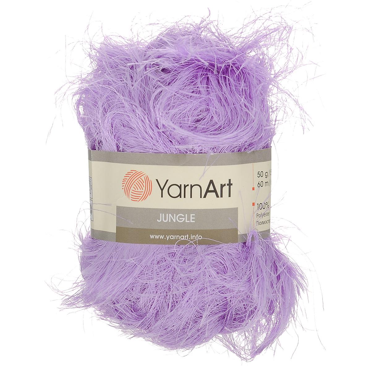 Пряжа для вязания YarnArt Jungle, цвет: ярко-сиреневый (23), 60 м, 50 г, 10 шт372055_23Пряжа для вязания YarnArt Jungle изготовлена из полиэстера. Пряжа-травка предназначена для ручного вязания и идеально подходит для отделки. Готовый ворс получается равным 4 см. Рекомендованные спицы и крючок для вязания 6 мм. Комплектация: 10 мотков. Состав: 100% полиэстер.