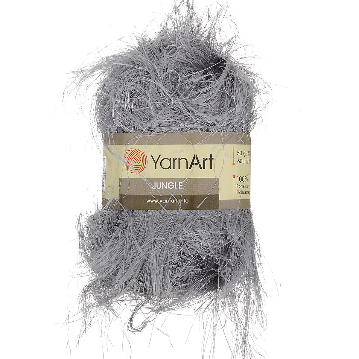 Пряжа для вязания YarnArt Jungle, цвет: стальной (22), 60 м, 50 г, 10 шт372055_22Пряжа для вязания YarnArt Jungle изготовлена из полиэстера. Пряжа-травка предназначена для ручного вязания и идеально подходит для отделки. Готовый ворс получается равным 4 см. Рекомендованные спицы и крючок для вязания 6 мм. Комплектация: 10 мотков. Состав: 100% полиэстер.