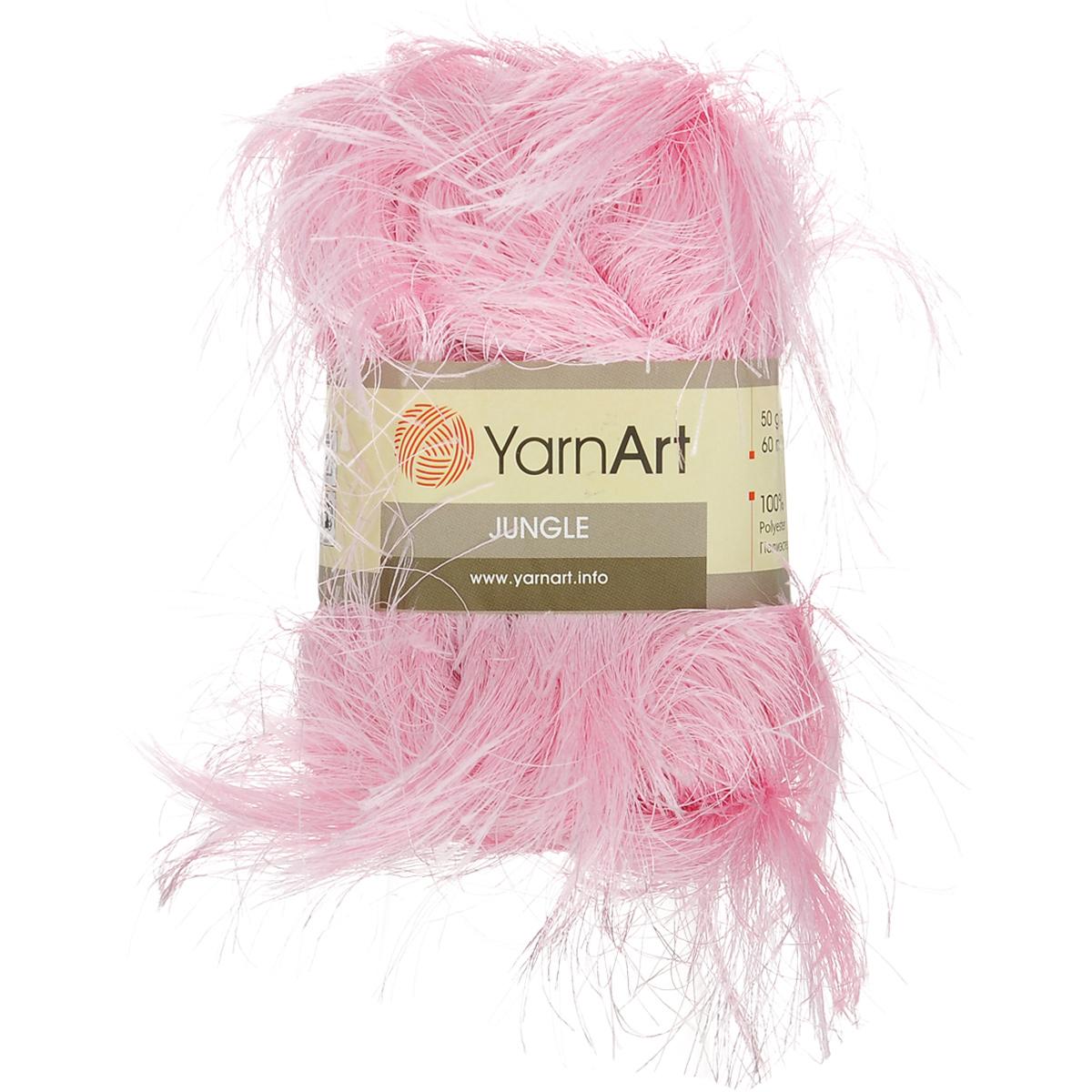 Пряжа для вязания YarnArt Jungle, цвет: розовый (20), 60 м, 50 г, 10 шт372055_20Пряжа для вязания YarnArt Jungle изготовлена из полиэстера. Пряжа-травка предназначена для ручного вязания и идеально подходит для отделки. Готовый ворс получается равным 4 см. Рекомендованные спицы и крючок для вязания 6 мм. Комплектация: 10 мотков. Состав: 100% полиэстер.