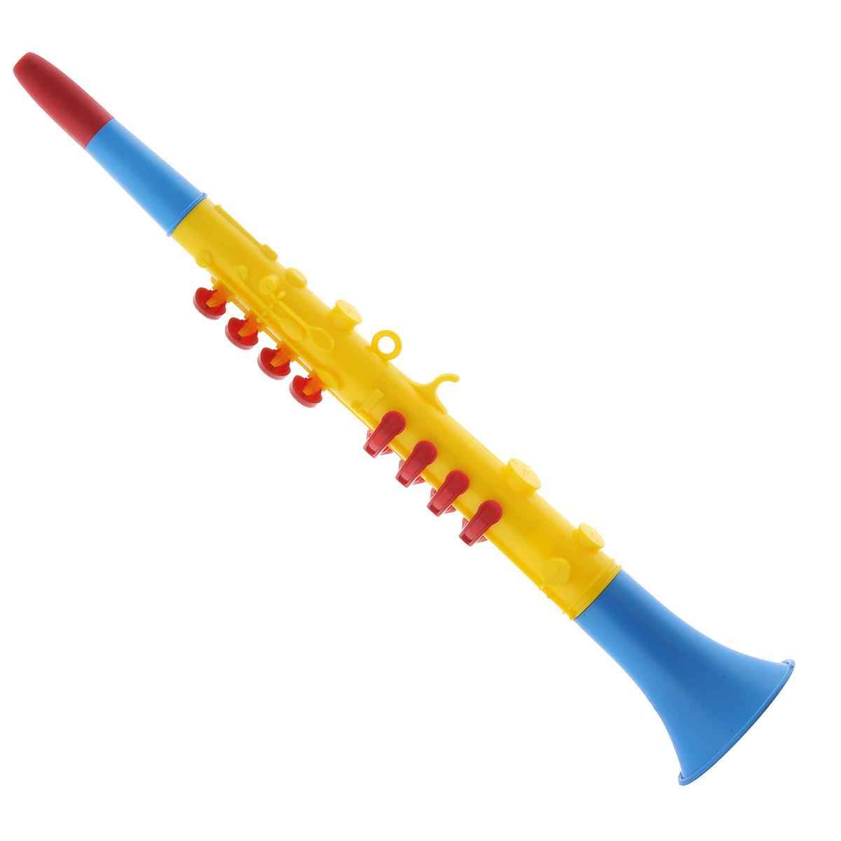 Музыкальная игрушка Domenech Кларнет03/09311Музыкальная игрушка Domenech Кларнет представляет собой духовой инструмент, выполненный из пластика ярких цветов. На нем расположены восемь клавиш, которые нужно поочередно зажимать. Ребенок быстро освоит игру на кларнете и будет придумывать все новые и новые мелодии. Игра на этом замечательном инструменте поможет развить звуковое восприятие, концентрацию внимания и мелкую моторику рук ребенка. Порадуйте вашего малыша таким замечательным подарком!