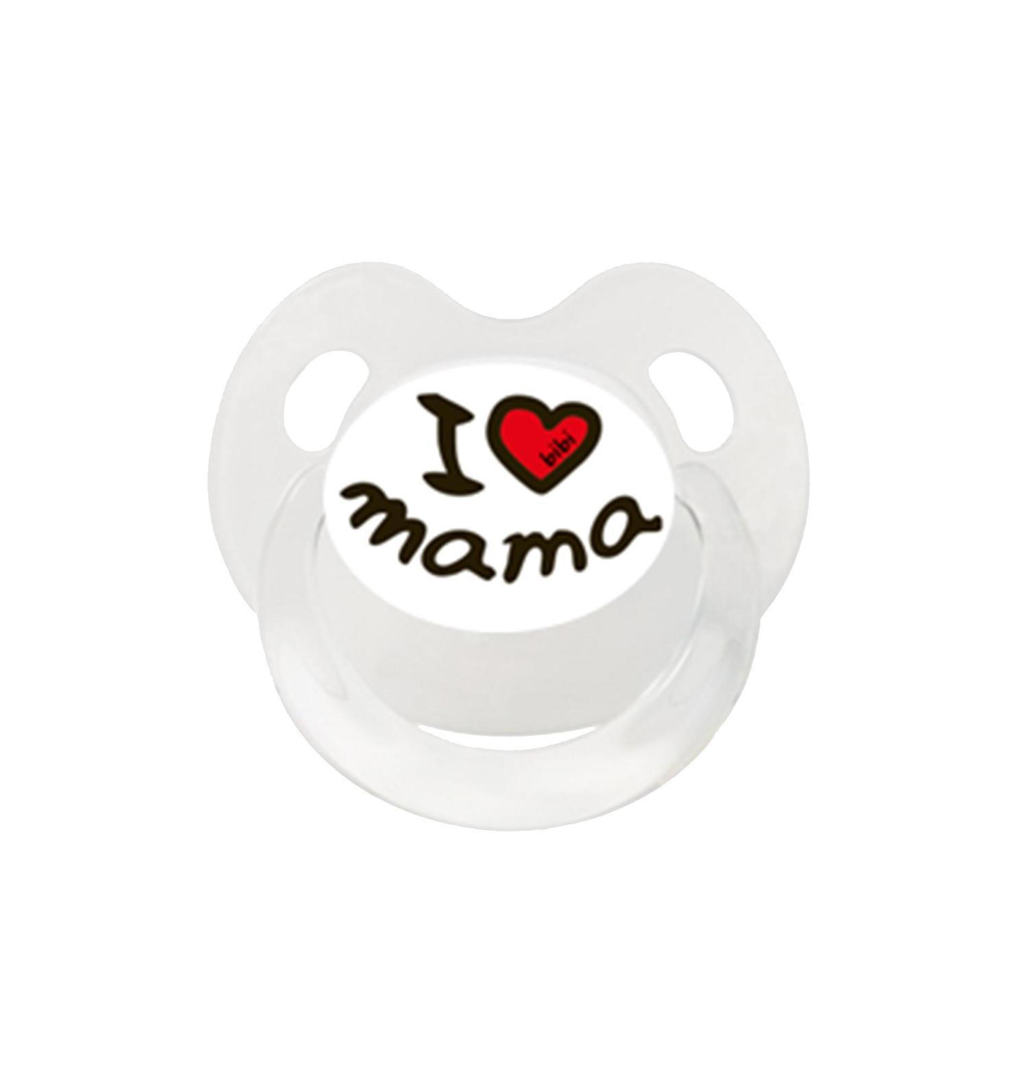 Пустышка Bibi Dental силикон Дневная 16 + мес.BasicCare Mama/Papa
