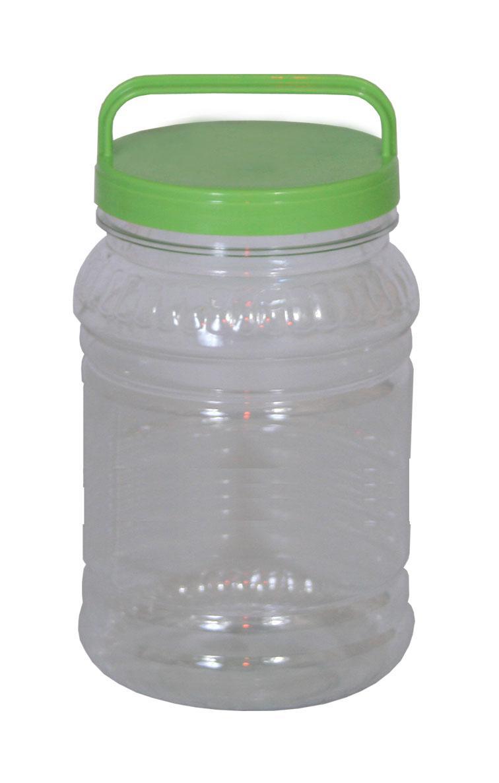 Бидон Альтернатива, цвет: прозрачный, зеленый, 2 лМ461Бидон Альтернатива предназначен для хранения и переноски пищевых продуктов, таких как молоко, прочее. Выполнен из пищевого высококачественного ПЭТ. Оснащен ручкой для удобной переноски. Бидон Альтернатива станет незаменимым аксессуаром на вашей кухне. Высота бидона (без учета крышки): 20,5 см. Диаметр: 10,5 см.