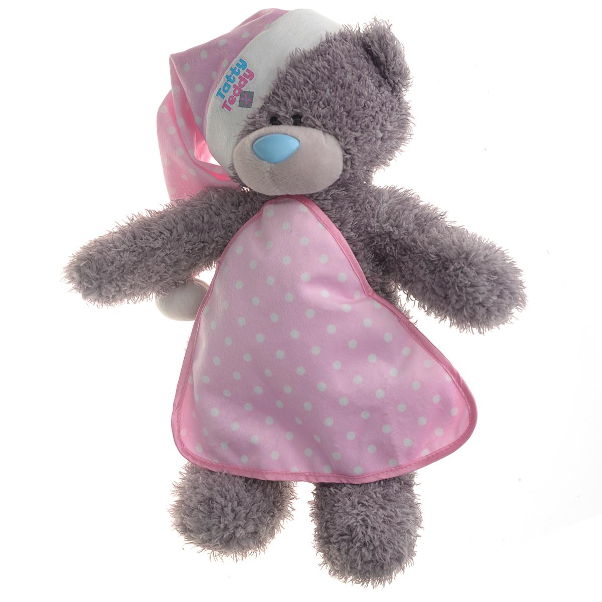 Me to You Мягкая озвученная игрушка Мишка Тедди, 32 смG01W2811Очаровательная мягкая игрушка Me to You Мишка Тедди привлечет внимание любого ребенка. Она выполнена в виде трогательного медвежонка из приятного на ощупь материала. Глазки и носик выполнены из пластика. На мишке очаровательный колпачок для сна и небольшое одеяльце. Нажмите на лапку игрушки и вы услышите спокойную мелодию, которая поможет ребенку заснуть. Удивительно мягкая игрушка принесет радость и подарит своему обладателю мгновения нежных объятий и приятных воспоминаний. Рекомендуется докупить 3 батарейки напряжением 1,5V типа АAA (товар комплектуется демонстрационными). Долгая история Мишки Тедди создала целый культ в истории, про него снимали мультфильмы и фильмы, сочиняли сказки и песни, он был любимцем детей и взрослых множество лет и является им сейчас. Нет лучшего подарка для ребенка или для девушки, чем Мишка Тедди от Me To You. Он способен выразить вашу любовь, заботу или дружбу. Он подарит огромное количество любви и ласки своему владельцу, как...