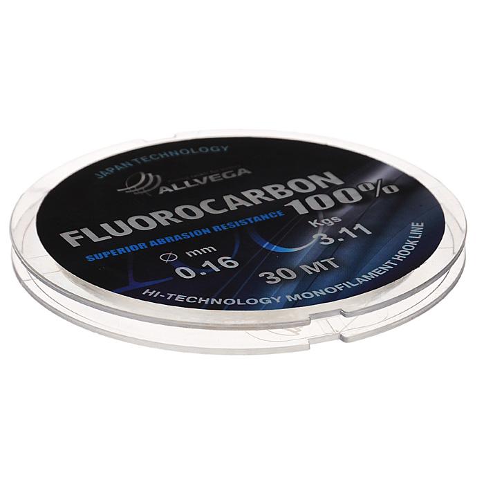 Леска Allvega FX Fluorocarbon 100%, цвет: прозрачный, 30 м, 0,16 мм, 3,11 кг36258Allvega FX Fluorocarbon 100% имеет коэффициент преломления света, близкий к коэффициенту преломления света воды, поэтому эта леска незаметна в воде и незаменима во многих случаях. Широко используется в качестве поводковой лески, как для мирных рыб, так и для хищников. Кроме прозрачности, так же обладает высокой устойчивостью к внешним механическим воздействиям, таким как камни, песок, ракушечник, зубы хищников. Обладает малой растяжимостью, что позволяет более четко определять поклевку и просекать рыбу.