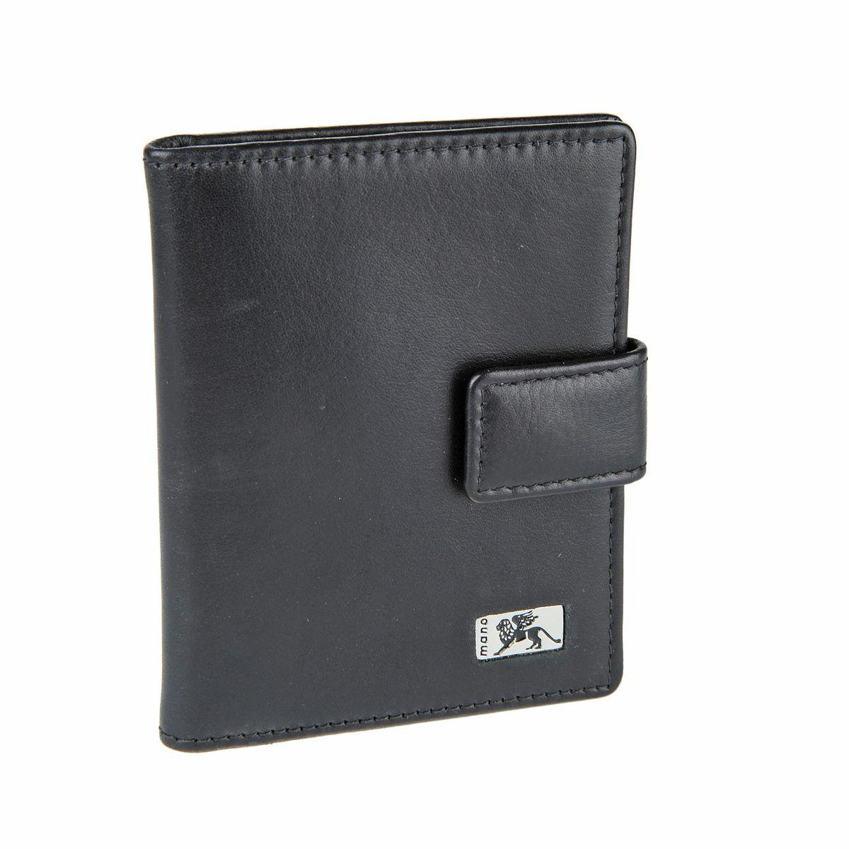 Визитница Mano, цвет: черный. 15814 linea15814 linea blackКомпактная вертикальная визитница Mano - стильная вещь для хранения визиток. Обложка визитницы выполнена из натуральной кожи. Внутри находится съемный блок с кармашками, рассчитанный на 10 визиток и два кармана . Визитница закрывается хлястиком на кнопку. Такая визитница станет замечательным подарком человеку, ценящему качественные и практичные вещи.