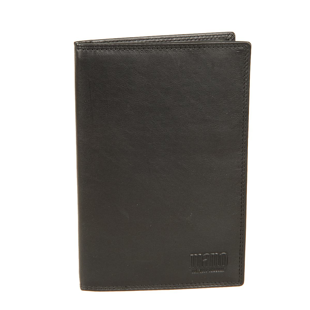 Портмоне Mano, цвет: черный. 1901119011 blackПортмоне Mano выполнено из высококачественной натуральной кожи. Модель раскладывается пополам. Внутри три больших потайных кармана, один из них на молнии, шестнадцать карманов для пластиковых карт. Отделение для монет находится внутри, в нем есть кармашек для sim-карты - закрывается на клапан с кнопкой. Это элегантное портмоне непременно дополнит ваш образ и порадует простотой, стилем и функциональностью.