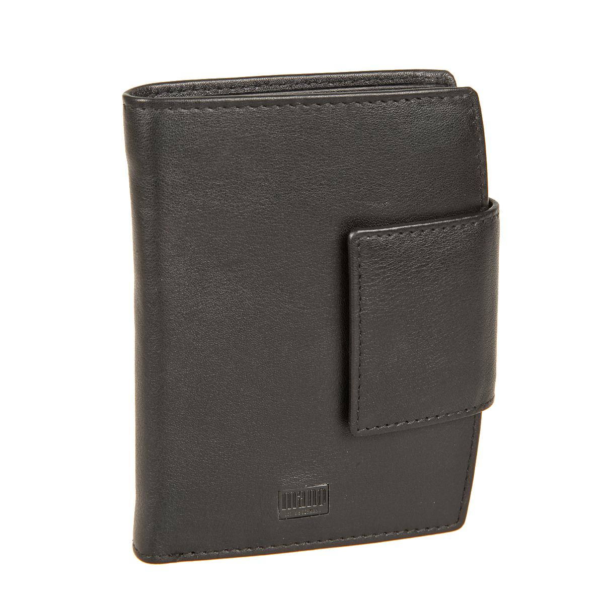 Портмоне мужское Mano, цвет: черный. 1910919109 tabula blackСтильное мужское портмоне Mano выполнено из натуральной кожи, оформлено металлической пластинкой с логотипом бренда. Модель закрывается хлястиком на кнопку. Внутри - два отделения для купюр, отдел для мелочи с клапаном на кнопке, шесть потайных отделений, одно отделение с сетчатой вставкой и шесть отделений для визитных и пластиковых карт. Портмоне упаковано в фирменную картонную коробку.