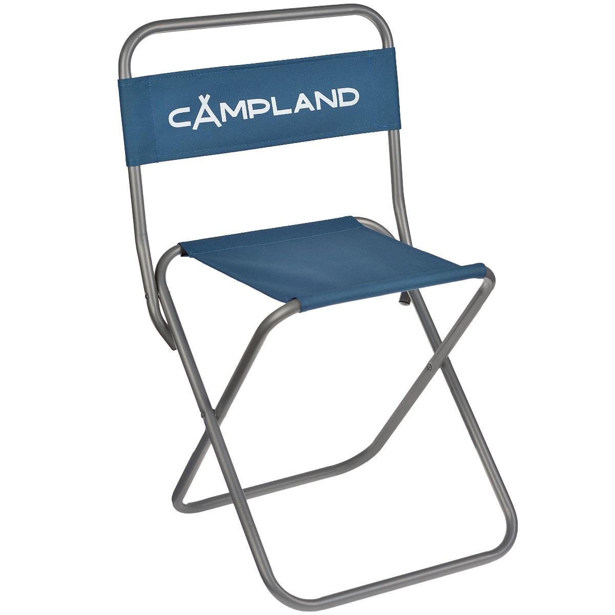 Стул рыбака складной CamplandBC009-7Складной стул Campland станет незаменимым предметом в походе, на природе, на рыбалке, а также на даче. Стул имеет прочный металлический каркас и сидение из плотного материала. Стул легко собирается и разбирается и не занимает много места, поэтому подходит для транспортировки и хранения дома.