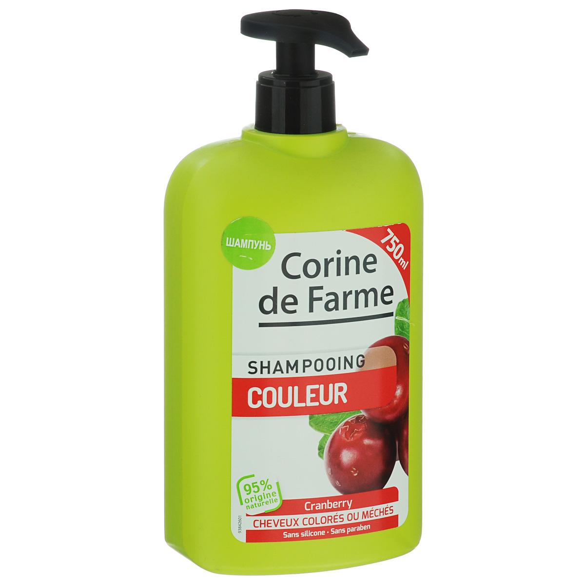 Corine De Farme Шампунь для окрашенных волос с UV фильтрами, 750 мл14169Шампунь для окрашенных волос с UV фильтрами сохраняет цвет, питает волосы от корней до кончиков, содержит более 95% натуральных ингредиентов для ухода и придания блеска окрашенным волосам. Формула с нейтральным рH, UV фильтрами и экстрактом клюквы защищает окрашенные волосы от внешних воздействий. УВАЖАЕМЫЕ КЛИЕНТЫ! Обращаем ваше внимание на возможные изменения в дизайне упаковки. Поставка осуществляется в одном из двух приведенных вариантов упаковок в зависимости от наличия на складе. Комплектация осталась без изменений.