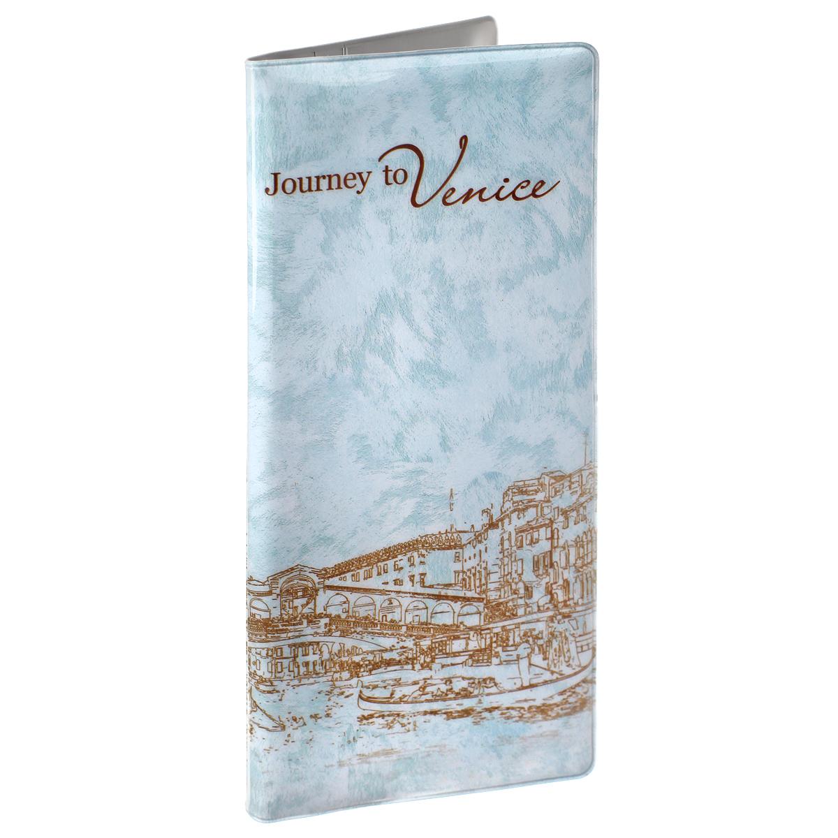 Конверт путешественника Путешествие в Венецию, цвет: голубой. 3770137701Конверт путешественника Путешествие в Венецию выполнен из поливинилхлорида и оформлен оригинальным изображением пейзажей Венеции. Внутри имеет четыре вертикальных кармана, два из которых сделаны из прозрачного пластика. Конверт идеально подходит для необходимых в дороге документов: паспорта, авиа и ж/д билетов, денег, страховки, а также документов формата А4, сложенных втрое. Конверт путешественника Путешествие в Венецию - это незаменимый аксессуар в поездках и путешествиях.