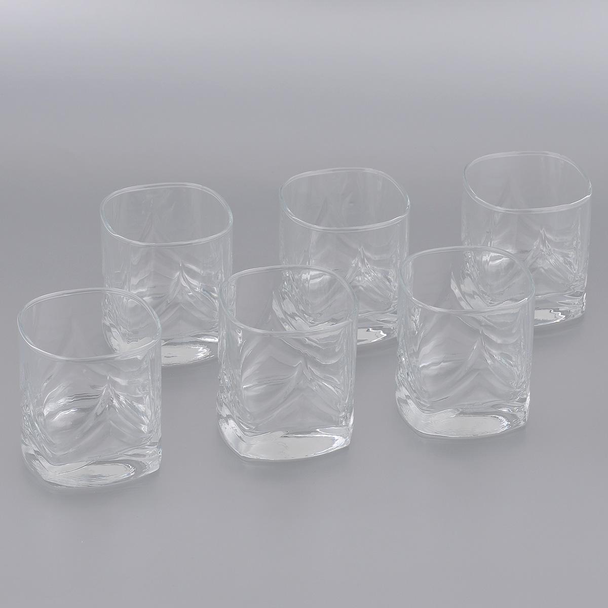 Набор стаканов Pasabahce Triumph, 200 мл, 6 шт41610BНабор Pasabahce Triumph, выполненный из высококачественного стекла, состоит из шести стаканов квадратной формы. Изделия, украшенные рельефным узором, прекрасно подойдут для подачи виски. Эстетичность, функциональность и изящный дизайн сделают набор достойным дополнением к вашему кухонному инвентарю. Набор стаканов Pasabahce Triumph украсит ваш стол и станет отличным подарком к любому празднику. Можно использовать в морозильной камере и микроволновой печи. Можно мыть в посудомоечной машине. Размер стакана по верхнему краю: 6,5 см х 6,5 см. Высота стакана: 7,5 см.