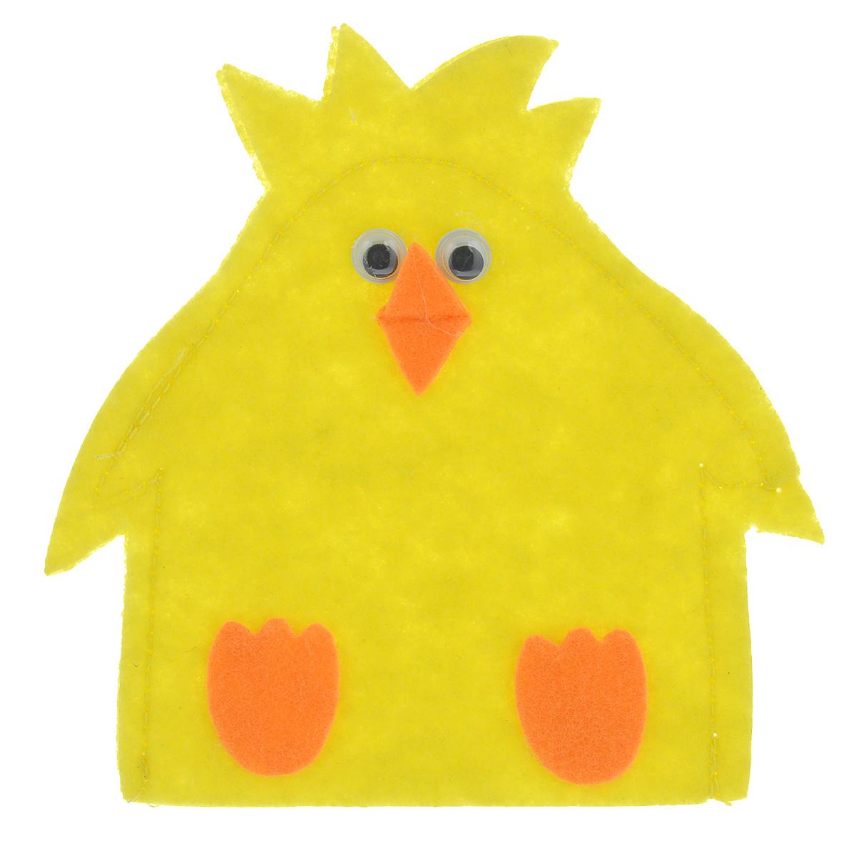 Грелка для яйца Home Queen Цыпленок, цвет: желтый, 11,5 х 11,5 см64520_4Грелка для яйца Home Queen Цыпленок изготовлена из фетра. Изделие выполнено в виде забавного цыпленка. Мягкая и приятная на ощупь, грелка внесет частичку тепла и веселья в ваш дом, а также станет замечательным подарком для друзей и близких. Размер: 11,5 см х 11,5 см.