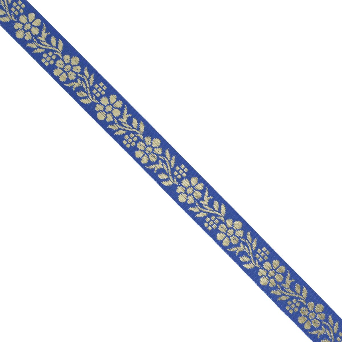 Тесьма декоративная Астра, цвет: синий (А15), ширина 1,5 см, длина 16,4 м. 77033287703328_A15Декоративная тесьма Астра выполнена из текстиля и оформлена оригинальным орнаментом. Такая тесьма идеально подойдет для оформления различных творческих работ таких, как скрапбукинг, аппликация, декор коробок и открыток и многое другое. Тесьма наивысшего качества и практична в использовании. Она станет незаменимым элементом в создании рукотворного шедевра. Ширина: 1,5 см. Длина: 16,4 м.