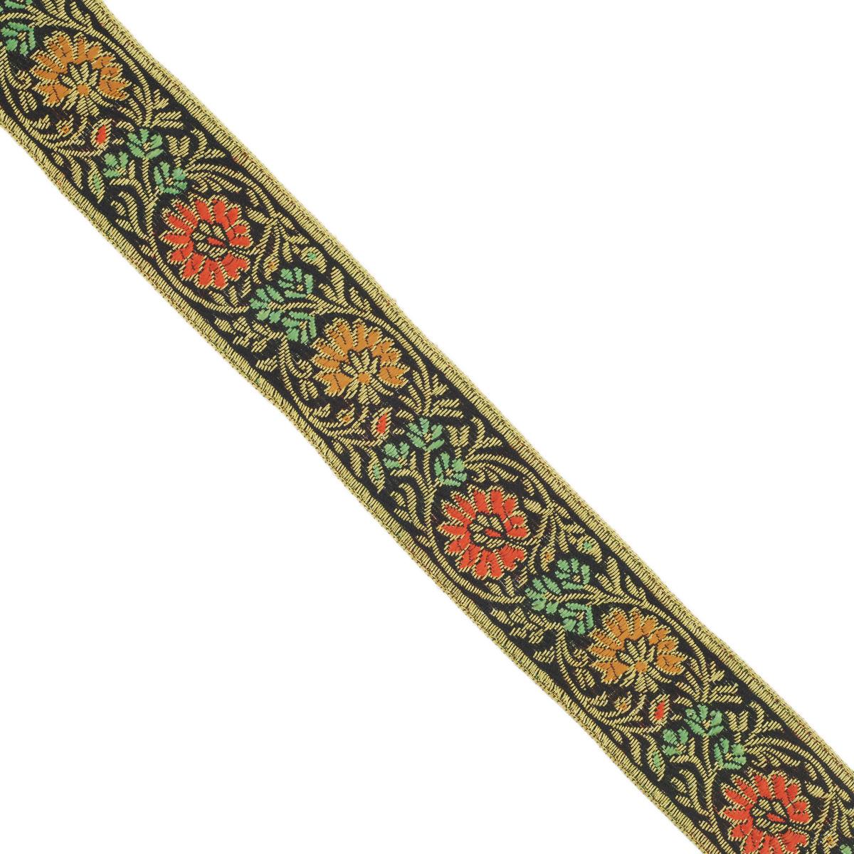 Тесьма декоративная Астра, цвет: черный (С22), ширина 3 см, длина 9 м. 77034417703441_С22Декоративная тесьма Астра выполнена из текстиля и оформлена оригинальным жаккардовым орнаментом. Такая тесьма идеально подойдет для оформления различных творческих работ таких, как скрапбукинг, аппликация, декор коробок и открыток и многое другое. Тесьма наивысшего качества и практична в использовании. Она станет незаменимым элементом в создании рукотворного шедевра. Ширина: 3 см. Длина: 9 м.