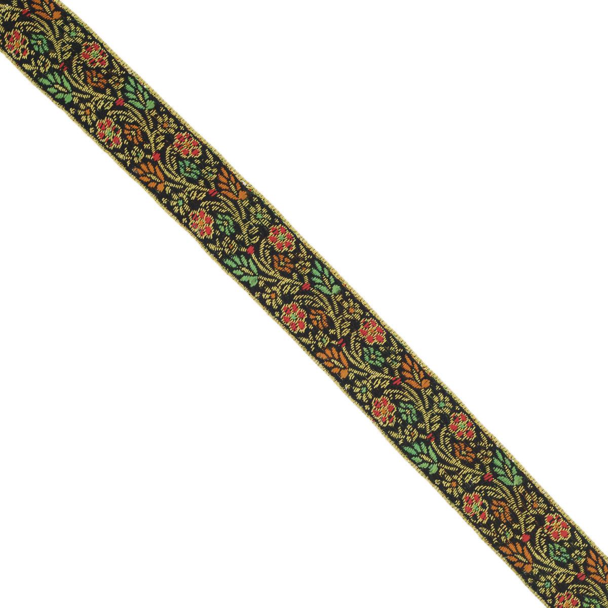 Тесьма декоративная Астра, цвет: черный (С20), ширина 2,5 см, длина 9 м. 77034347703434_С20Декоративная тесьма Астра выполнена из текстиля и оформлена оригинальным орнаментом. Такая тесьма идеально подойдет для оформления различных творческих работ таких, как скрапбукинг, аппликация, декор коробок и открыток и многое другое. Тесьма наивысшего качества и практична в использовании. Она станет незаменимым элементом в создании рукотворного шедевра. Ширина: 2,5 см. Длина: 9 м.