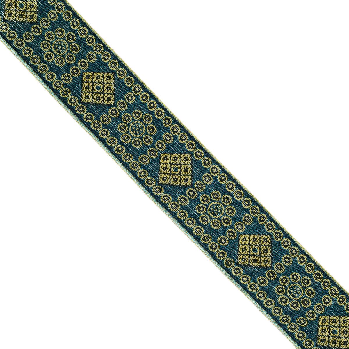 Тесьма декоративная Астра, цвет: ярко-синий (187), ширина 4 см, длина 9 м. 77034547703454_187Декоративная тесьма Астра выполнена из текстиля и оформлена оригинальным жаккардовым орнаментом. Такая тесьма идеально подойдет для оформления различных творческих работ таких, как скрапбукинг, аппликация, декор коробок и открыток и многое другое. Тесьма наивысшего качества и практична в использовании. Она станет незаменимым элементом в создании рукотворного шедевра. Ширина: 4 см. Длина: 9 м.