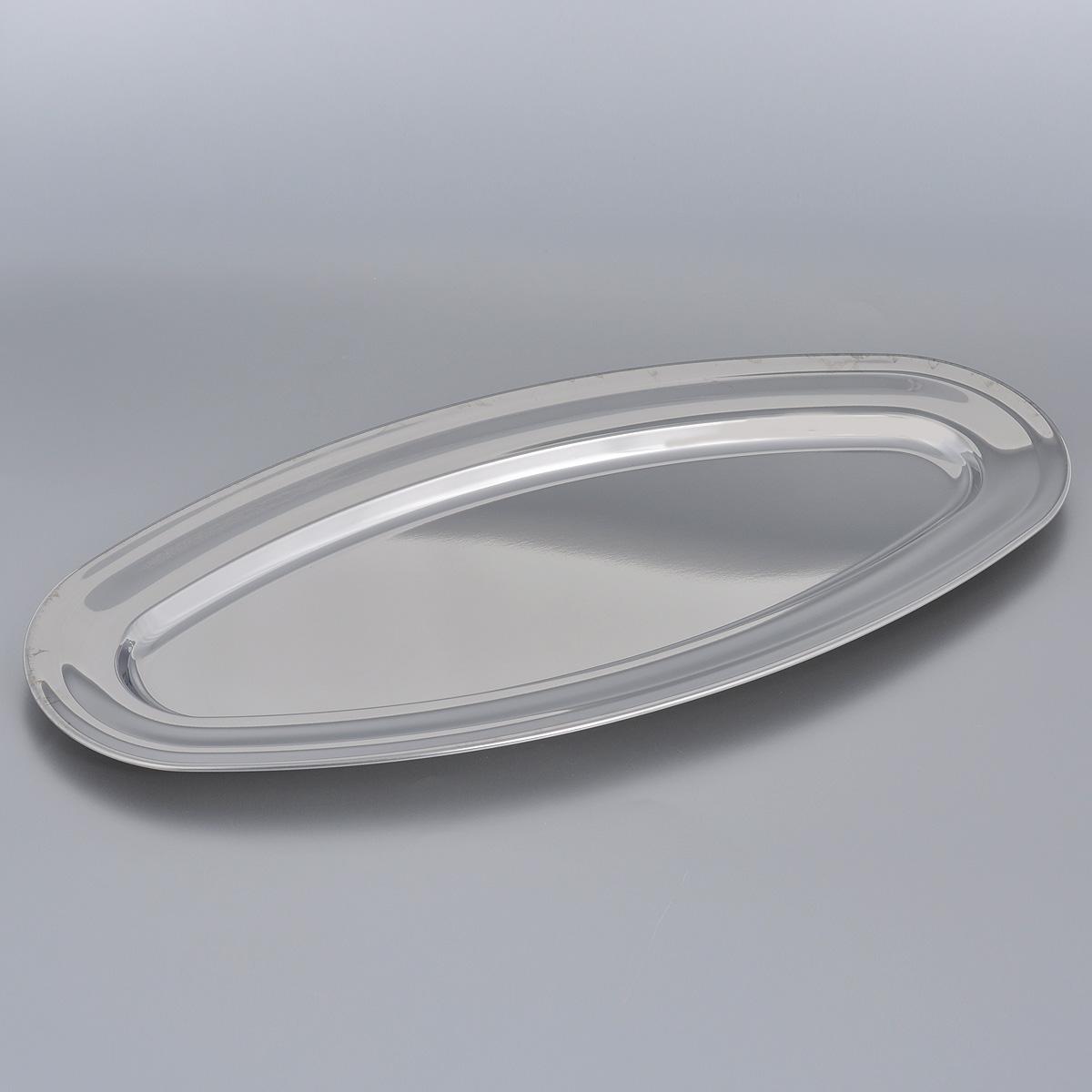 Блюдо для рыбы Tramontina Service, 50,5 см х 23,5 см х 2 см61403/501-TRОвальное блюдо для рыбы Tramontina Service, изготовленное из нержавеющей стали с зеркальной полировкой, станет незаменимым предметом для сервировки стола. Современный стильный дизайн и функциональность позволят блюду занять достойное место на вашей кухне.