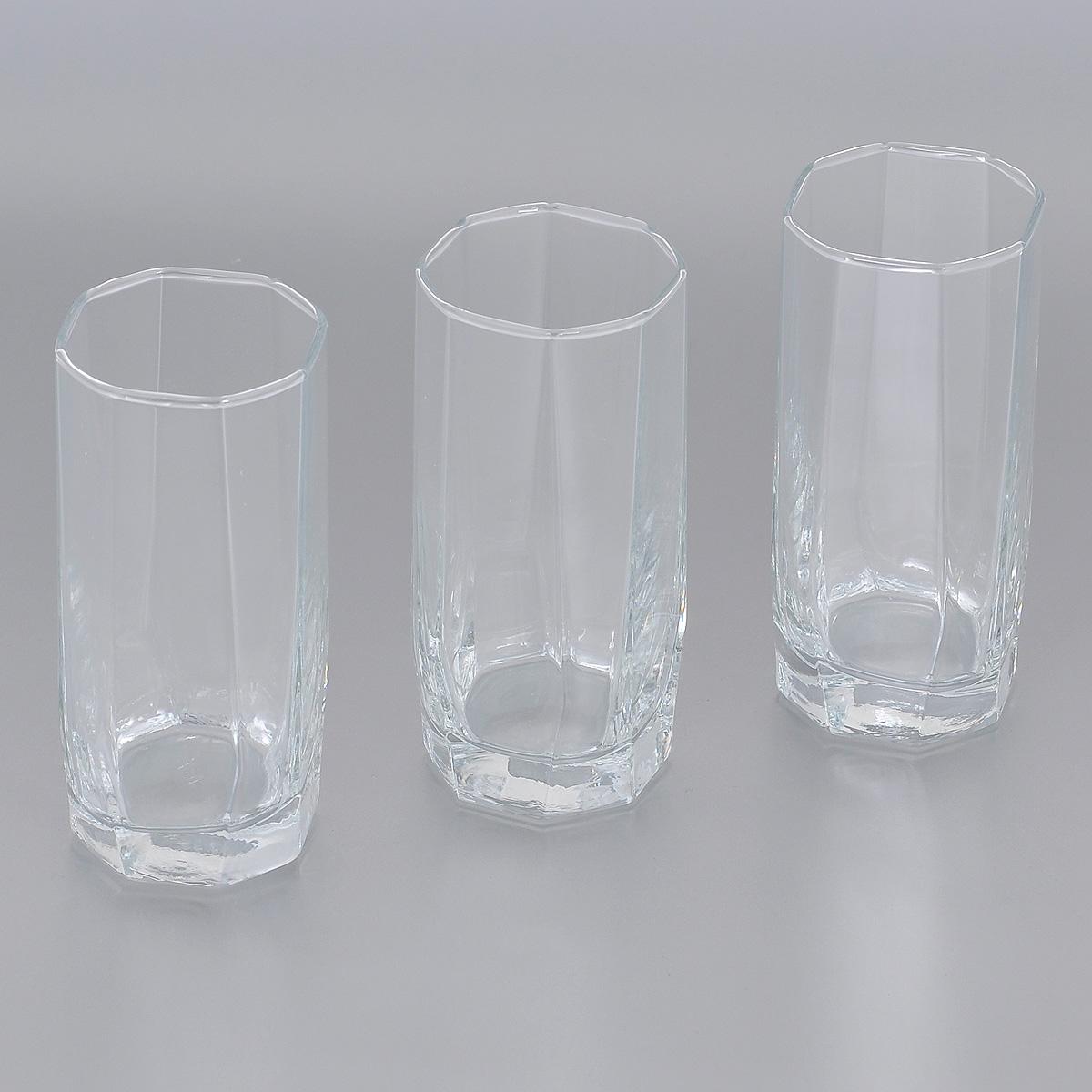 Набор стаканов Pasabahce Hisar, 220 мл, 3 шт42858BНабор Pasabahce Hisar, выполненный из высококачественного стекла, состоит из трех стаканов. Высокие стаканы с утолщенным дном прекрасно подойдут для подачи холодных напитков. Эстетичность, функциональность и изящный дизайн сделают набор достойным дополнением к вашему кухонному инвентарю. Набор стаканов Pasabahce Hisar украсит ваш стол и станет отличным подарком к любому празднику. Можно использовать в морозильной камере и микроволновой печи. Можно мыть в посудомоечной машине. Диаметр стакана по верхнему краю: 5 см. Высота стакана: 12,4 см.