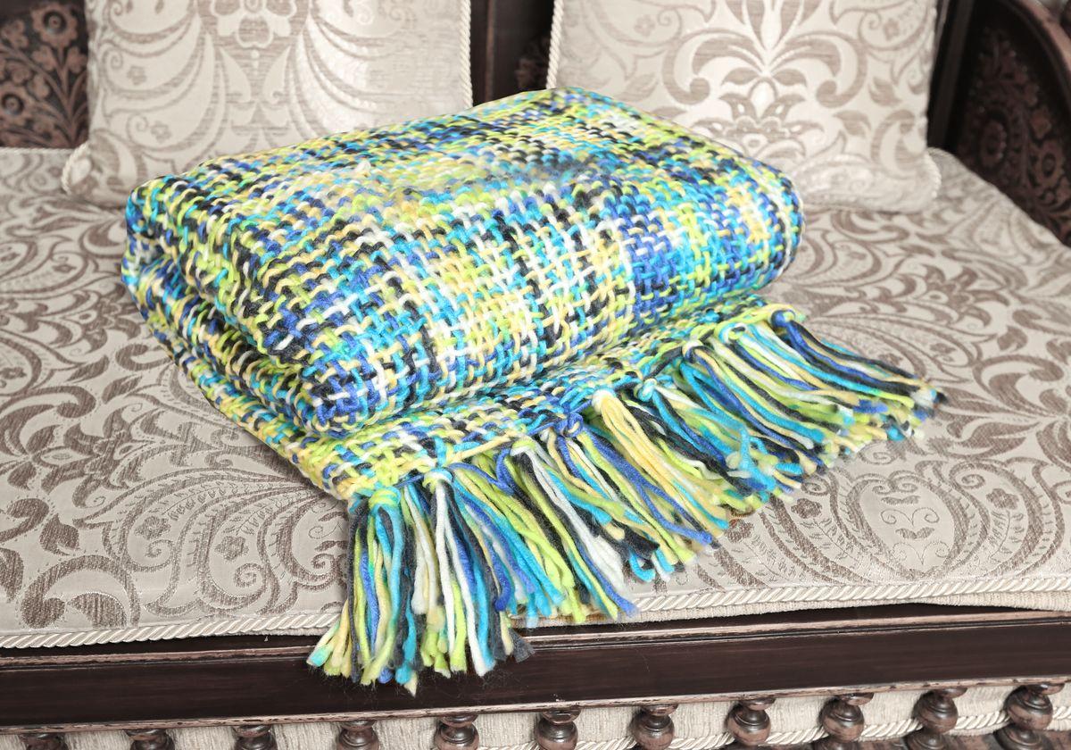 Плед Mona Liza Premium Picasso, цвет: зеленый, синий, белый, 140 х 180 см520504/2Вязаный плед Mona Liza Premium Picasso с кисточками по краям послужит теплым, мягким и практичным подарком близким людям. Плед изготовлен из высококачественного 100% акрила. Яркий и приятный на ощупь плед Mona Liza Premium Picasso непременно займет достойное место в вашем доме.