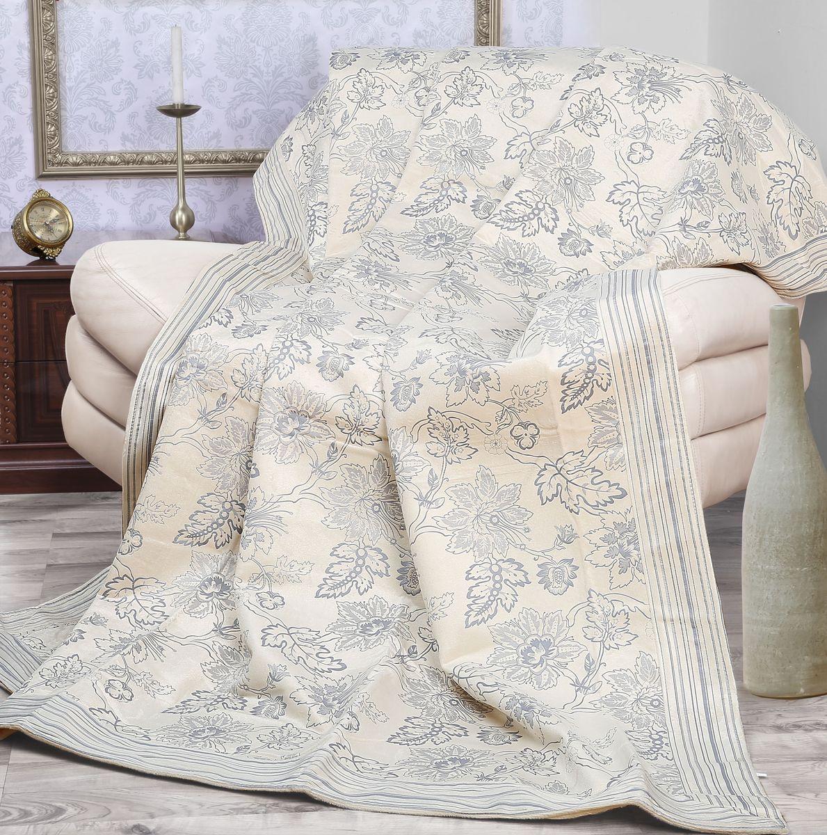 Покрывало Mona Liza Elite Camelia, цвет: бежевый, серый, 200 х 220 см