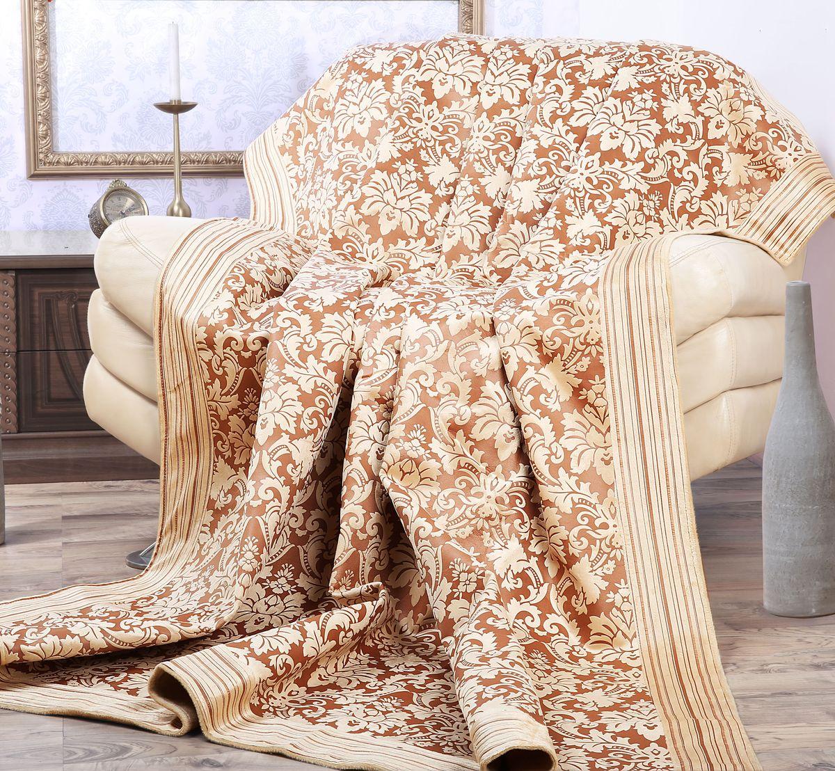 Покрывало Mona Liza Elite Vintage, цвет: бежевый, коричневый, 200 см х 220 см530961/5Роскошное покрывало Mona Liza Elite Vintage из высококачественного полиэстера гармонично впишется в интерьер вашего дома и создаст атмосферу уюта и комфорта. Такое покрывало согреет в прохладную погоду и будет превосходно дополнять интерьер вашей спальни. Высочайшее качество материала гарантирует безопасность не только взрослых, но и самых маленьких членов семьи. Небольшой ворс придает покрывалу мягкость и оригинальность. Покрывало может подчеркнуть любой стиль интерьера, задать ему нужный тон - от игривого до ностальгического. Покрывало - это такой подарок, который будет всегда актуален, особенно для ваших родных и близких, ведь вы дарите им частичку своего тепла! Покрывала серии Mona Liza Elite выполнены из шенилловой ткани деворе - при выжигании части волокон образуется характерный рельефный рисунок.