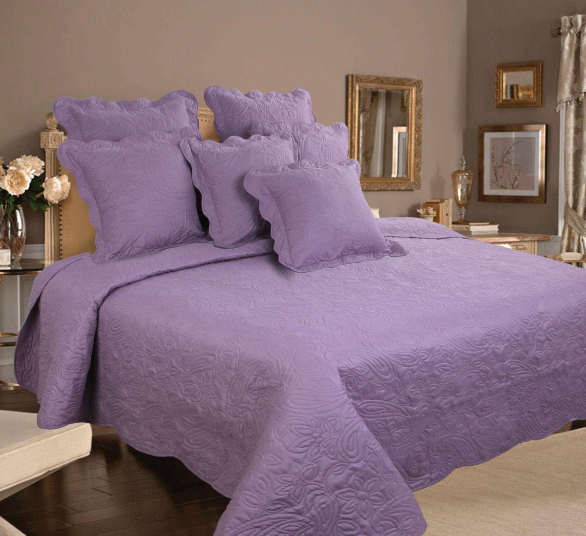 Комплект для спальни Mona Liza Royal Lilak: покрывало 240 см х 260 см, 2 наволочки 40 см х 40 см, цвет: лиловый