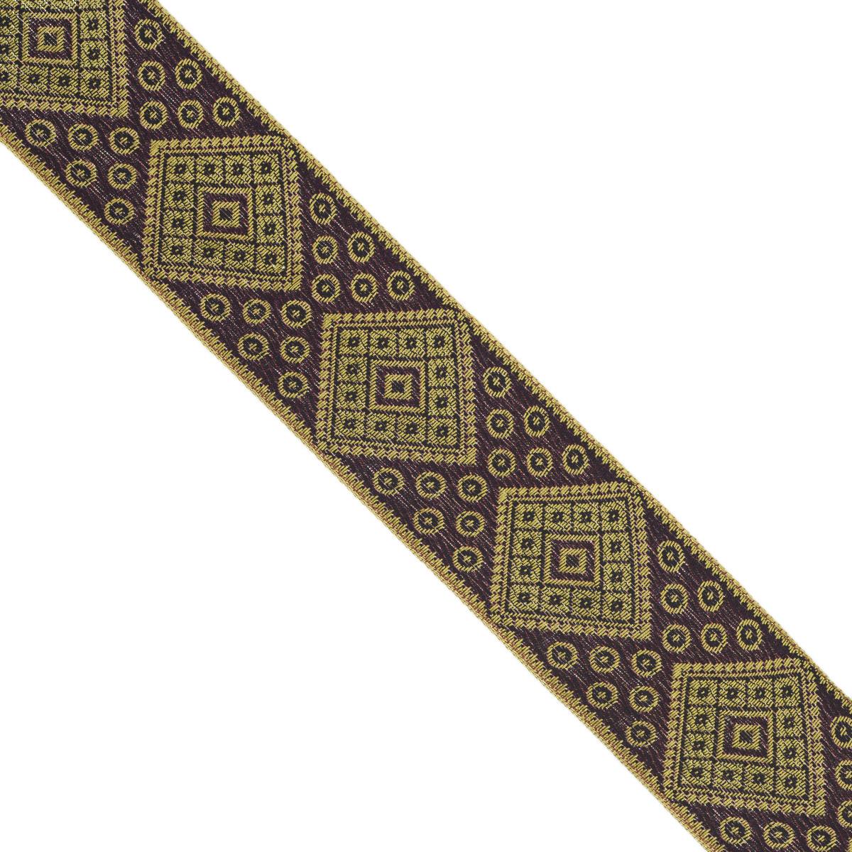 Тесьма декоративная Астра, цвет: фиолетовый (245), ширина 4 см, длина 9 м. 77034527703452_245Декоративная тесьма Астра выполнена из текстиля и оформлена оригинальным жаккардовым орнаментом. Такая тесьма идеально подойдет для оформления различных творческих работ таких, как скрапбукинг, аппликация, декор коробок и открыток и многое другое. Тесьма наивысшего качества и практична в использовании. Она станет незаменимым элементом в создании рукотворного шедевра. Ширина: 4 см. Длина: 9 м.