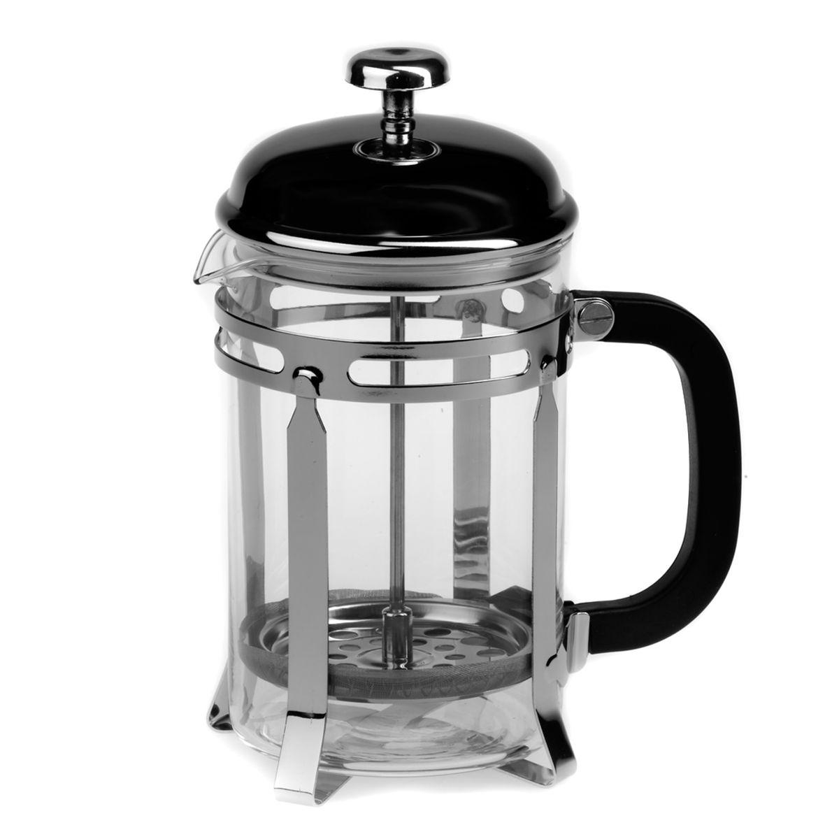 Френч-пресс Gotoff, 800 мл8027AФренч-пресс Gotoff представляет собой гибрид заварочного чайника и кофейника. Колба выполнена из жаропрочного стекла, корпус, крышка и поршень изготовлены из нержавеющей стали. Ручка пластиковая. Изделие легко разбирается и моется. Прозрачные стенки чайника дают возможность наблюдать за насыщением напитка, а поршень позволяет с легкостью отжать самый сок от заварки и получить напиток с насыщенным вкусом. Заварочный чайник - постоянно используемый предмет посуды, который необходим на каждой кухне. Френч-пресс Gotoff займет достойное место среди аксессуаров на вашей кухне. Можно мыть в посудомоечной машине. Диаметр (по верхнему краю): 10 см. Высота чайника: 21 см.
