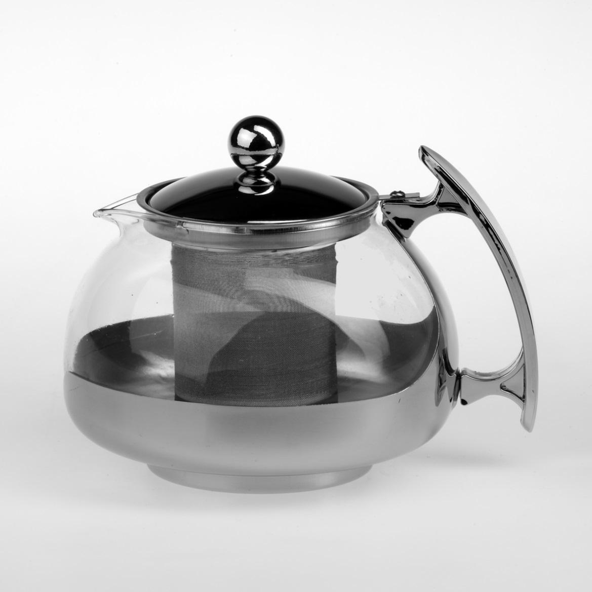 Чайник заварочный Gotoff, 750 мл. 82478247Заварочный чайник Gotoff представляет собой гибрид заварочного чайника и кофейника. Чайник выполнен из жаропрочного стекла в комбинации с удобной пластиковой ручкой и стальной крышкой. Прозрачные стенки позволят наблюдать за степенью заварки напитка. Чайник легко разбирается, моется и собирается. Чайник - это постоянно используемый предмет посуды на кухне, поэтому важно, чтобы он был функциональным, прочным и долго радовал вас вкусными и ароматными напитками. Чайник Gotoff займет достойное место на вашей кухне. Хороший подарок для себя и своих друзей. Можно мыть в посудомоечной машине. Диаметр чайника (по верхнему краю): 8 см. Высота чайника: 9,5 см.